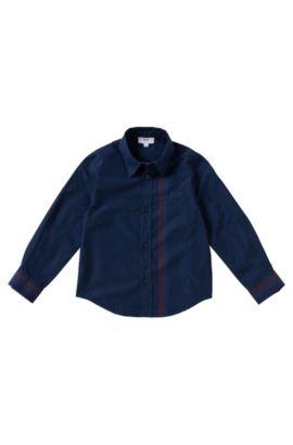 Kinderoverhemd van katoen: 'J25868', Donkerblauw