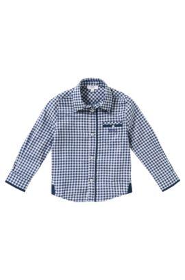 Kinderoverhemd van katoen: 'J25869', Blauw