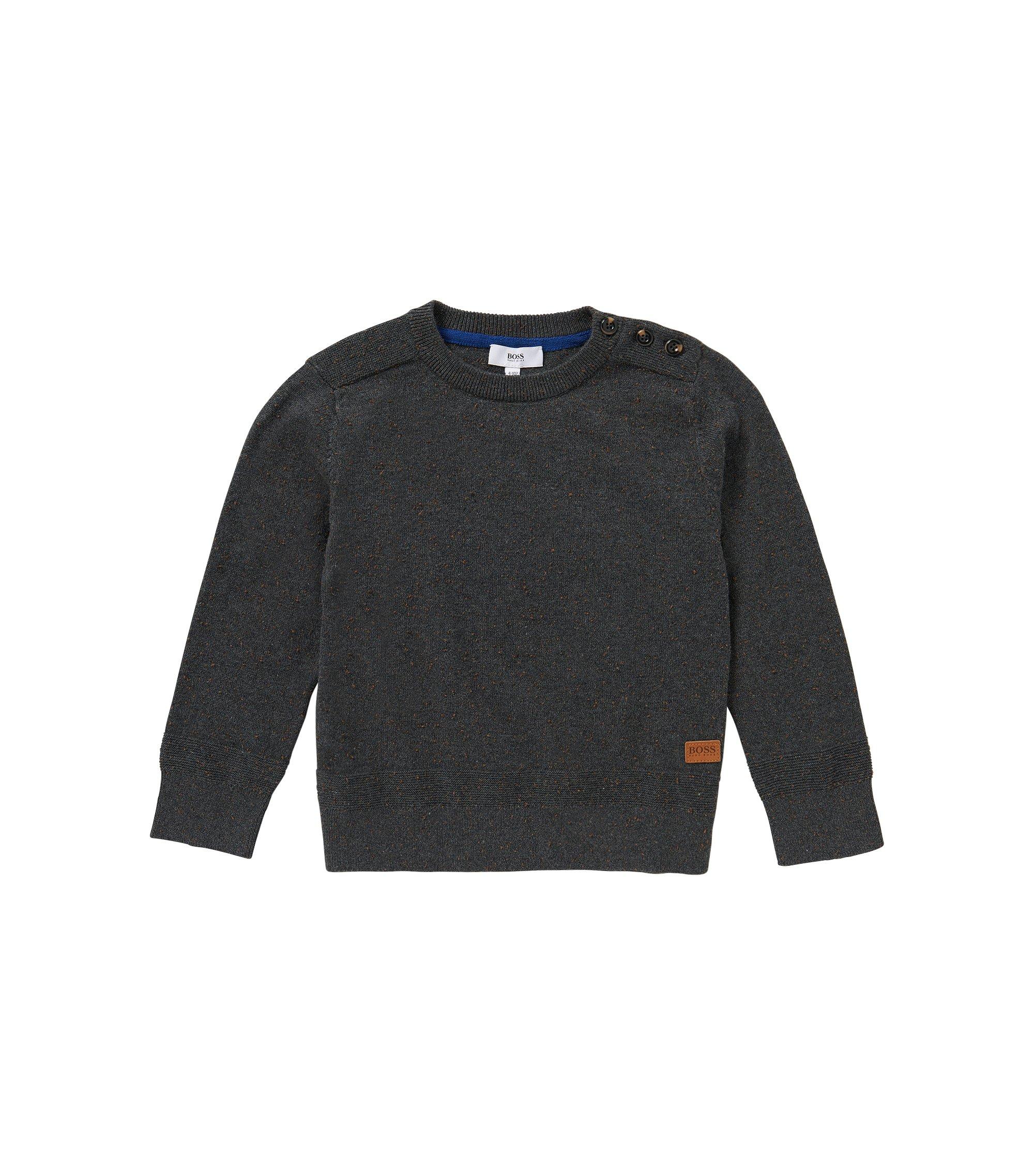 Pullover aus Baumwoll-Mix mit Kaschmiranteil: 'J25875', Anthrazit