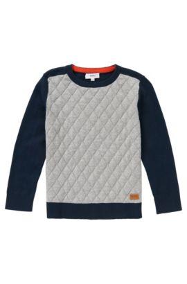 Pullover aus Baumwolle mit Kaschmir-Anteil: 'J25885', Dunkelblau