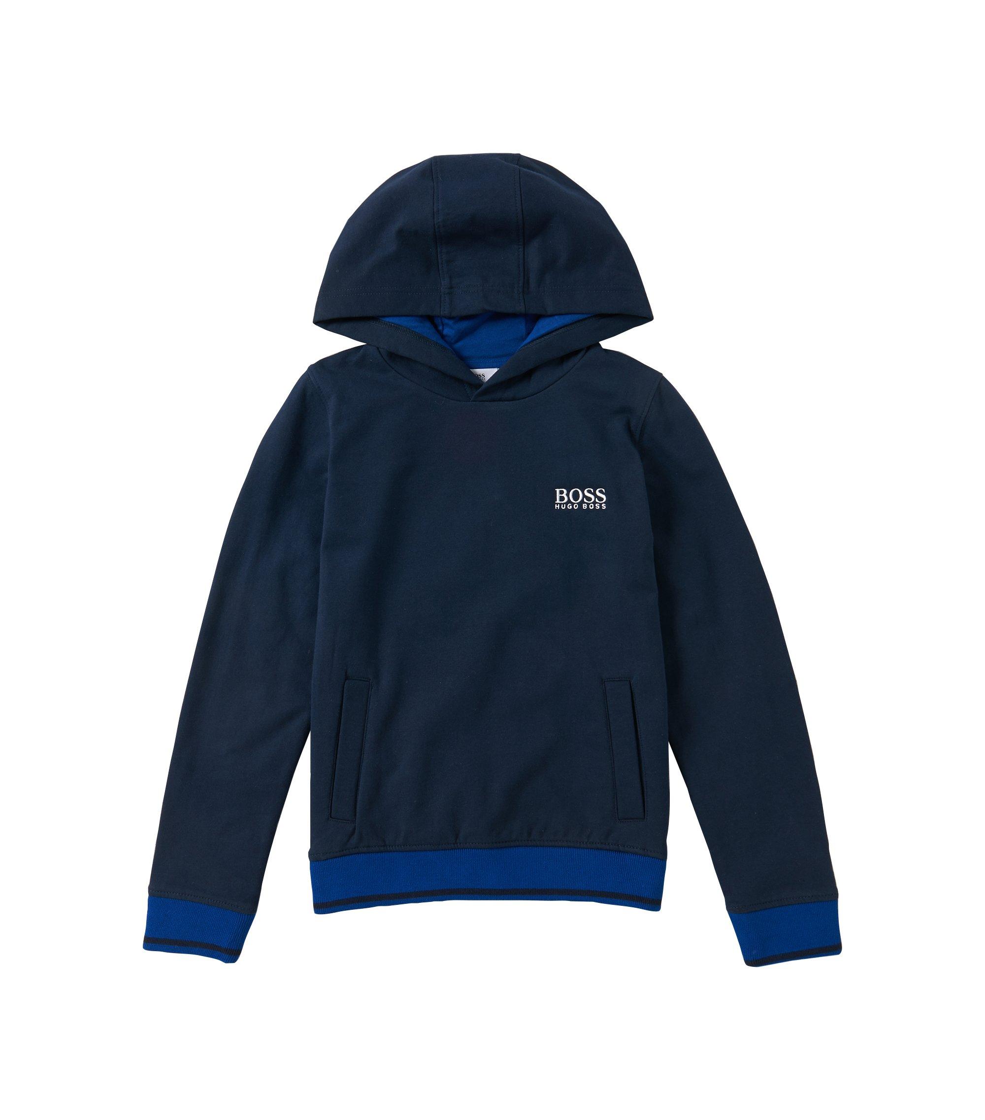 Kids Kapuzen-Sweatshirt aus elastischem Baumwoll-Mix: 'J25888', Dunkelblau