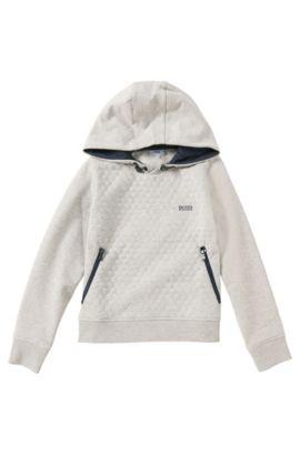 Kindersweatshirt van een katoenmix: 'J25889', Lichtgrijs