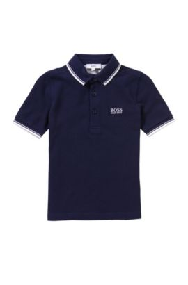 Kids' polo shirt in cotton: 'J25910', Dark Blue
