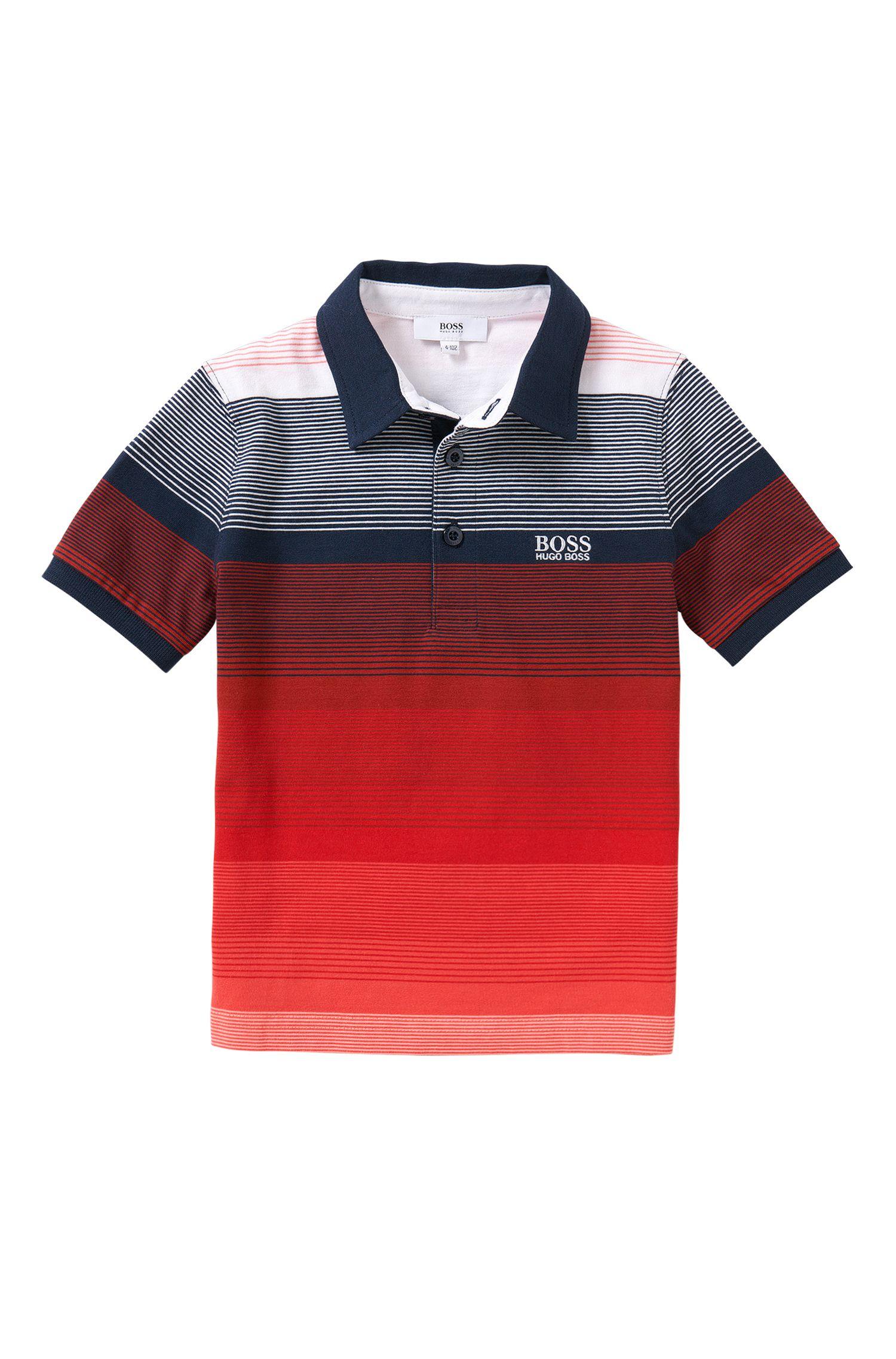 Polo en coton à rayures pour enfants: «J25916»