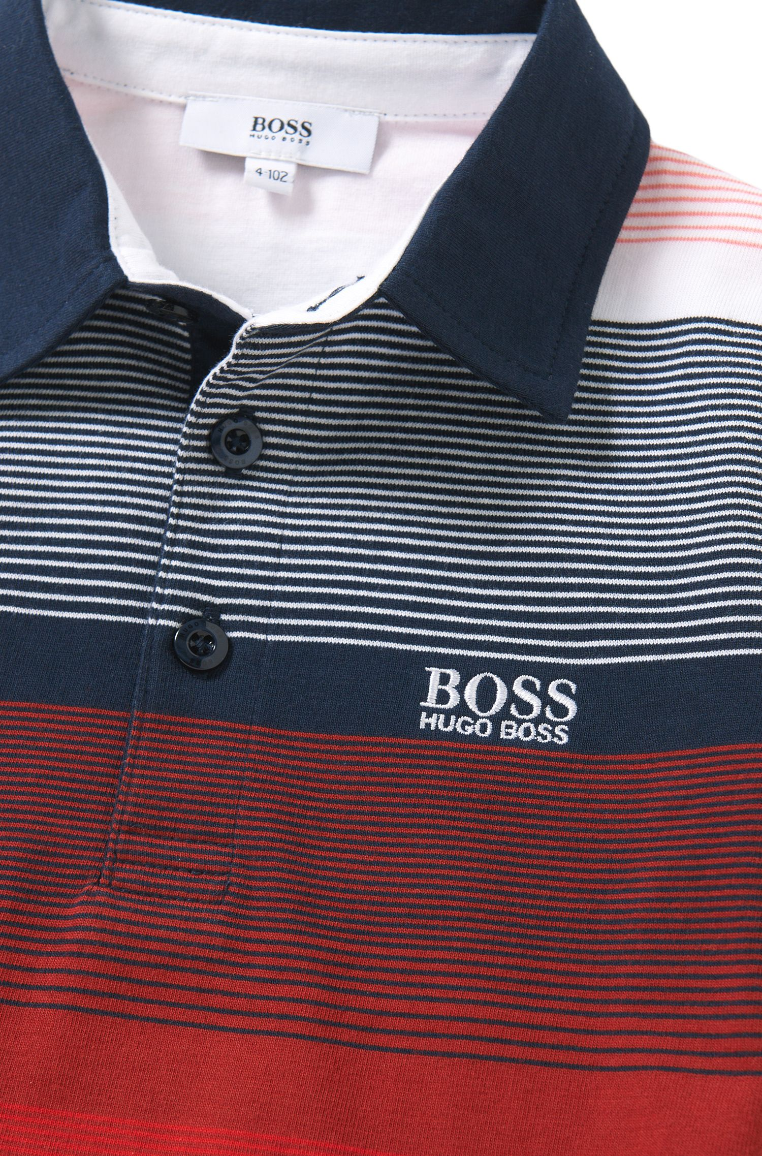 Striped kids' polo shirt in cotton: 'J25916'