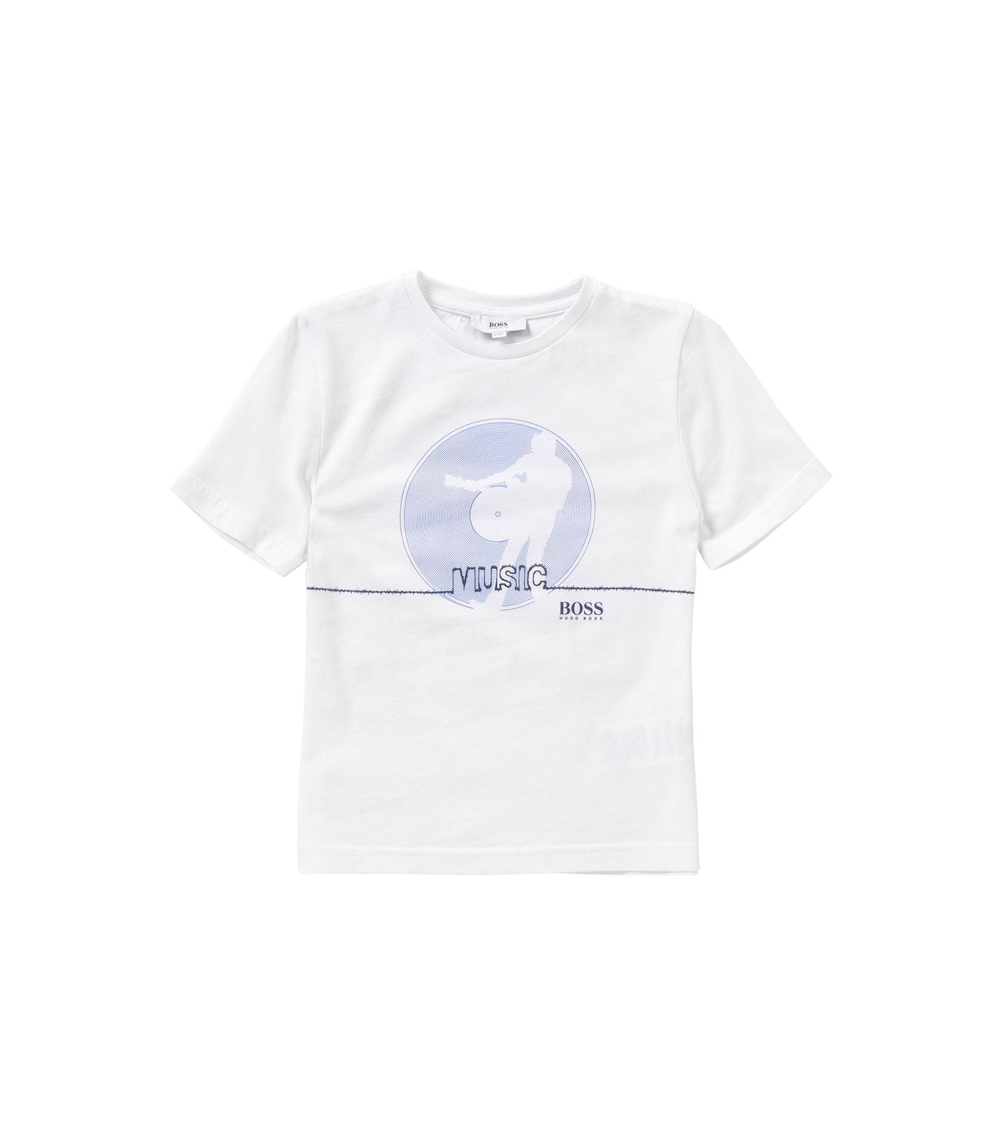 Kids-T-Shirt aus reiner Baumwolle mit Front-Print: 'J25931', Weiß