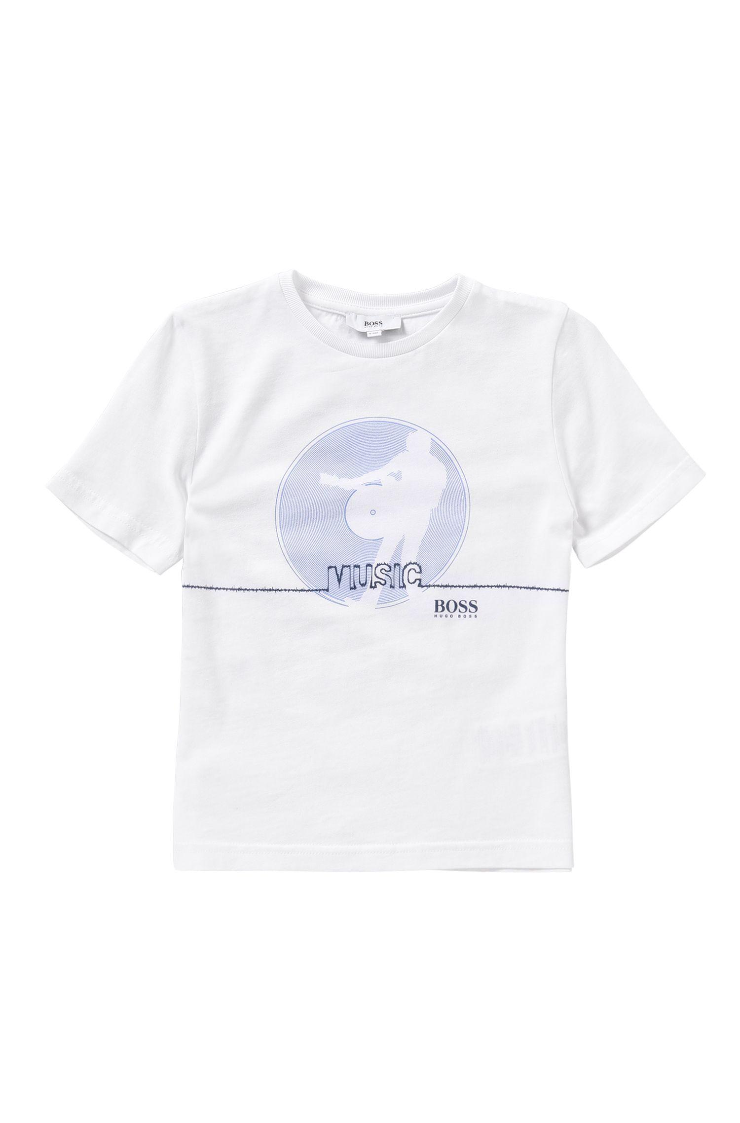 T-shirt voor kinderen, van zuivere katoen met frontprint: 'J25931'