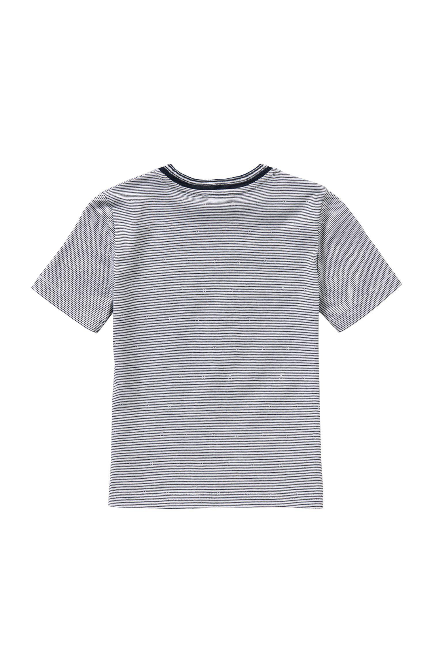 Camiseta a rayas en algodón para niños: 'J25933'