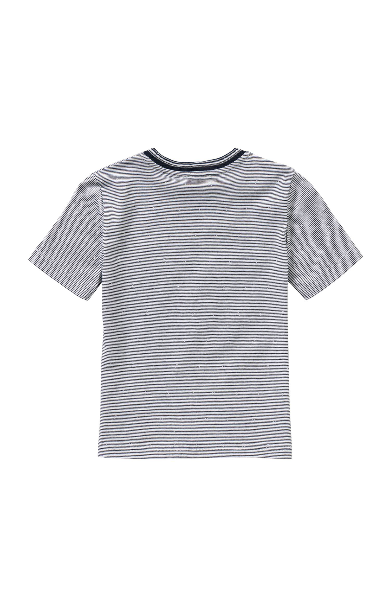 Striped kids' t-shirt in cotton: 'J25933'