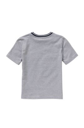 Camiseta a rayas en algodón para niños: 'J25933', Azul oscuro