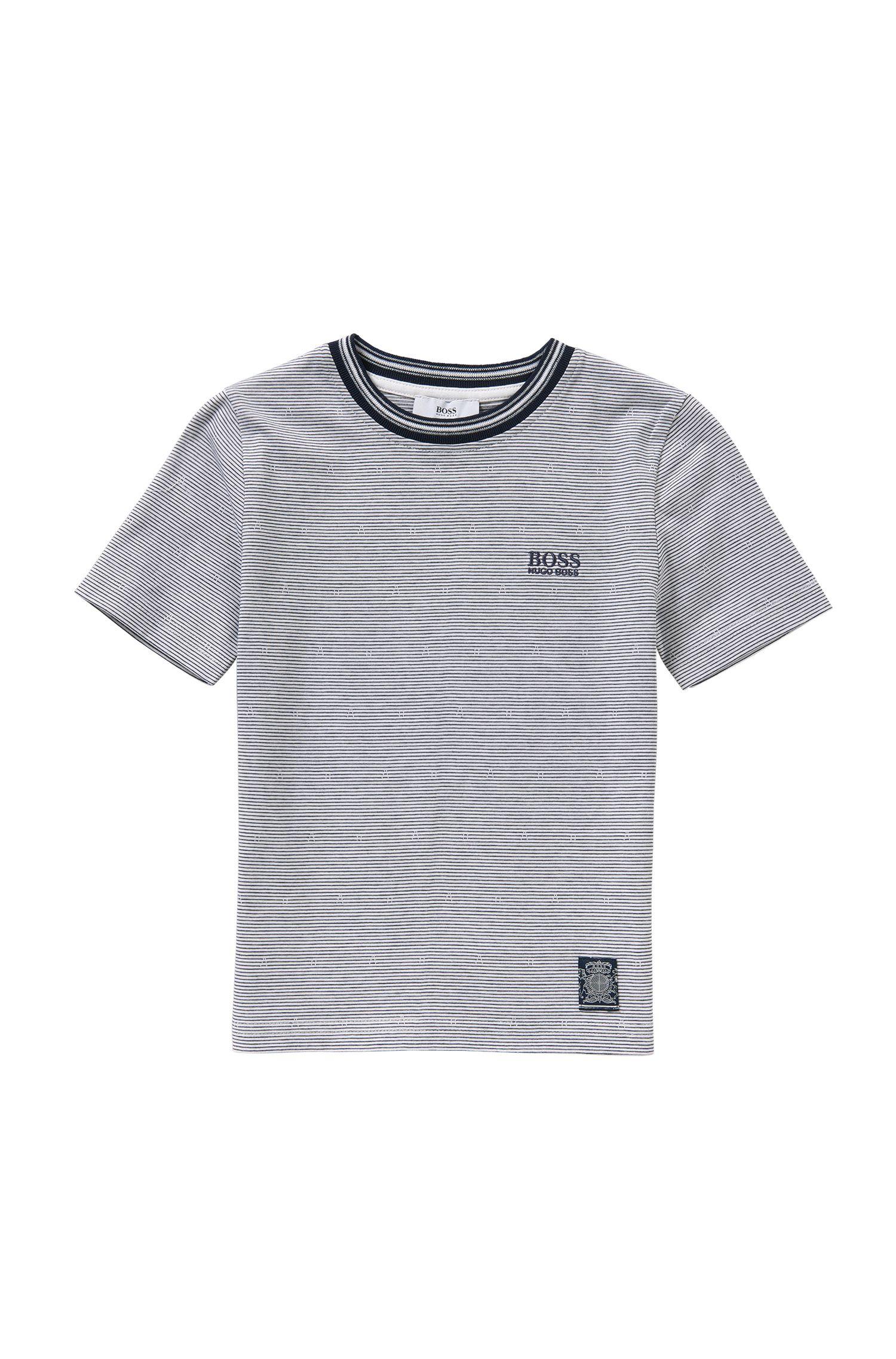 T-shirt pour enfant à rayures, en coton: «J25933»