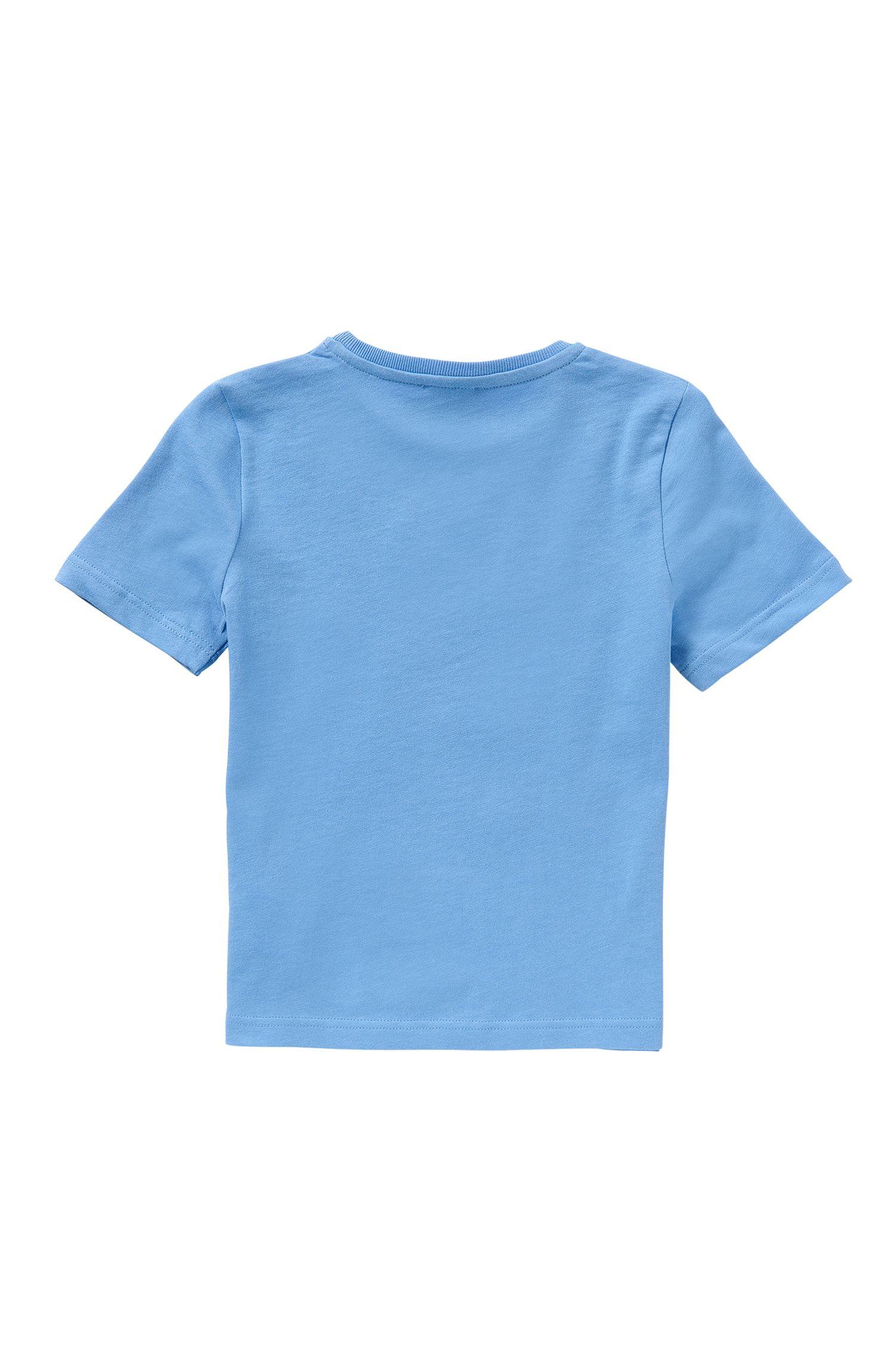 Kids-T-Shirt mit Streifen und Palmen-Print: 'J25934'