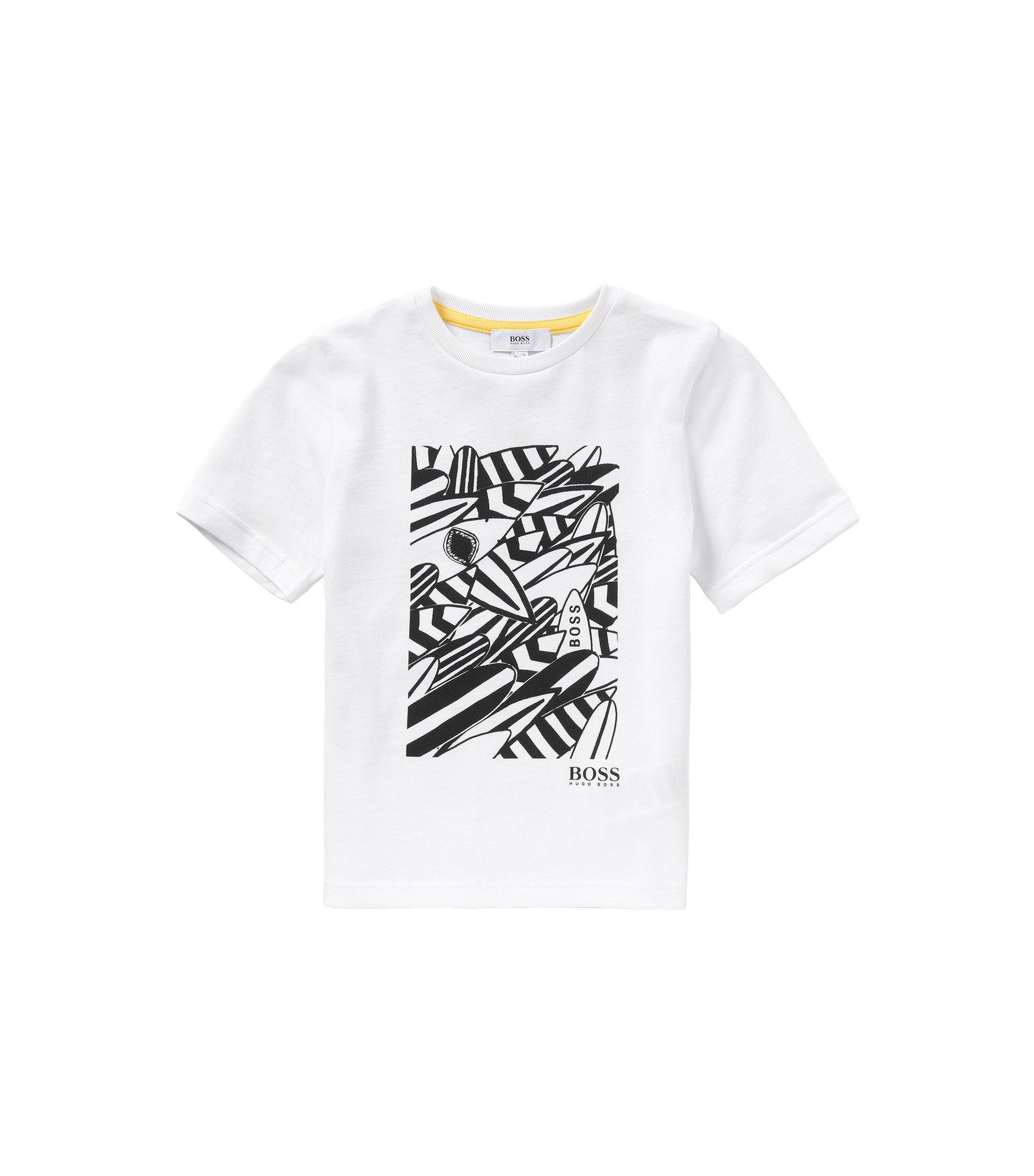 Bedrucktes Kids-T-Shirt aus Baumwolle: 'J25939', Weiß