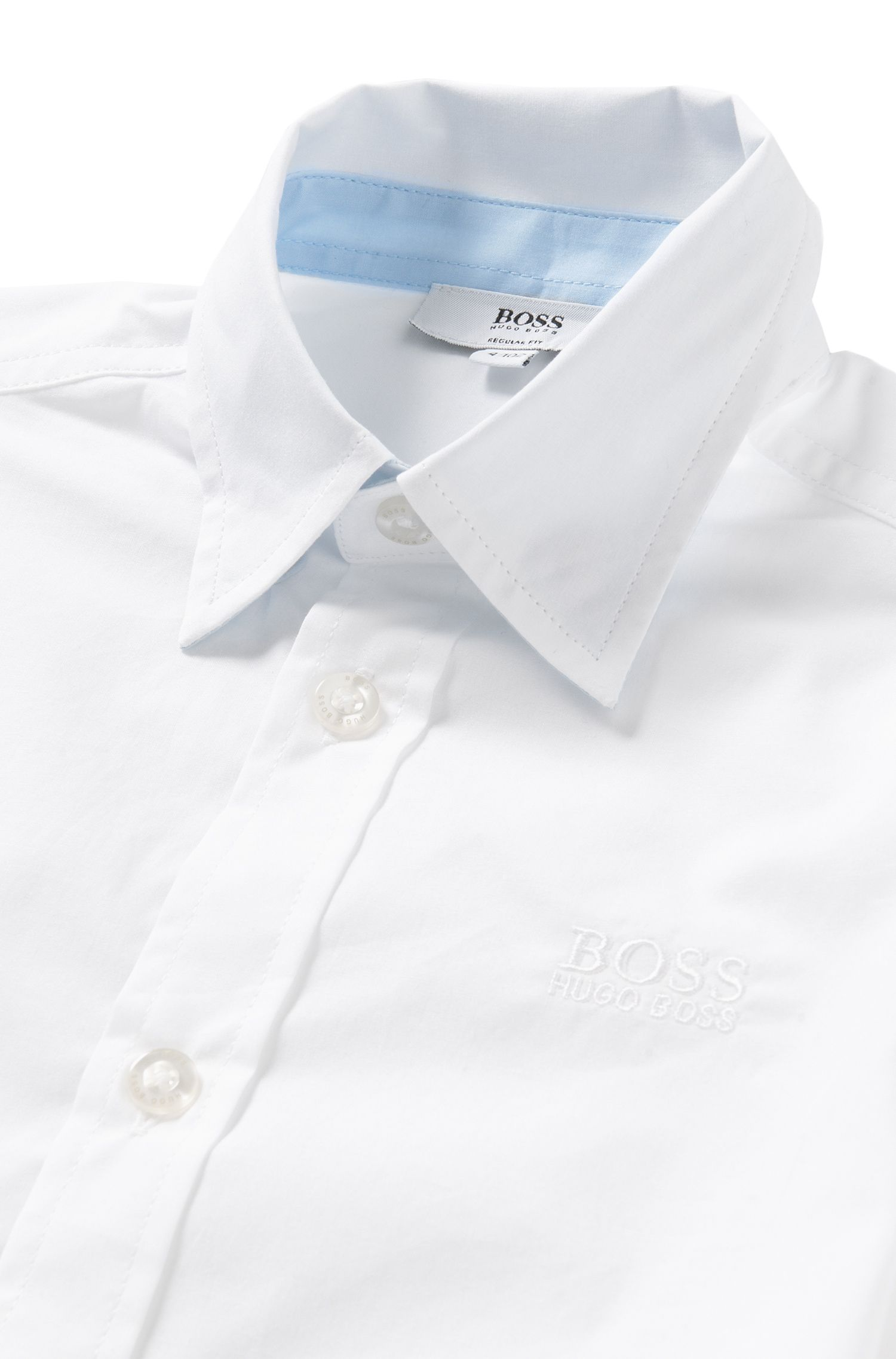 Regular-fit kids' shirt in cotton: 'J25944'