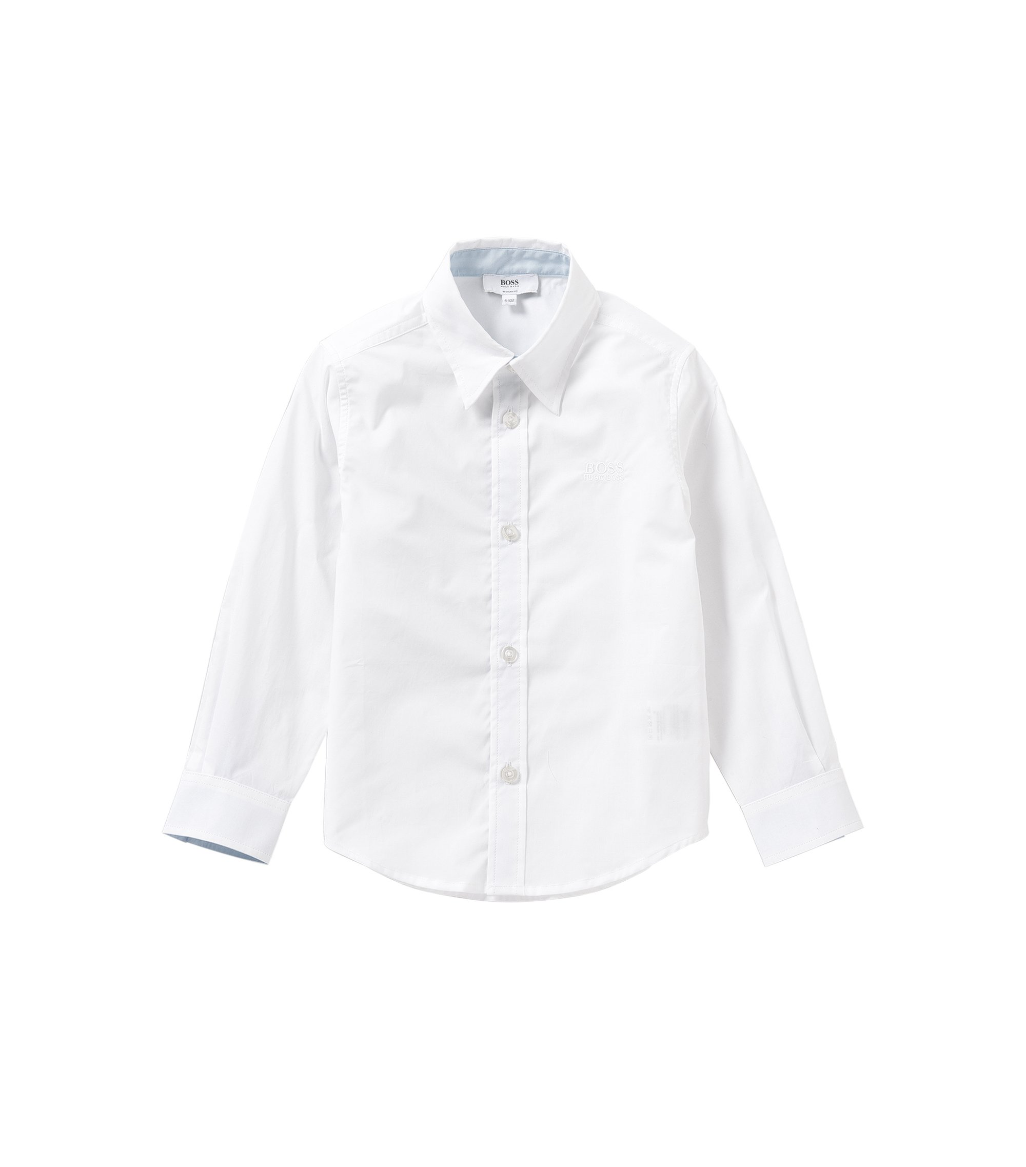 Chemise Regular Fit pour enfant en coton: «J25945», Blanc