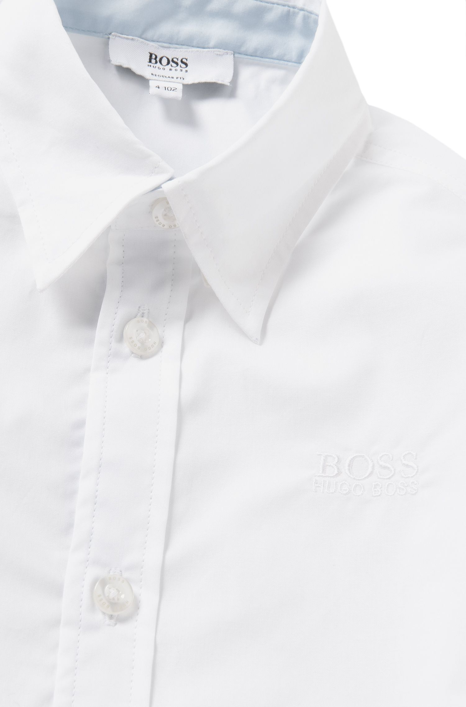 Regular-Fit Kids-Hemd aus Baumwolle: 'J25945'