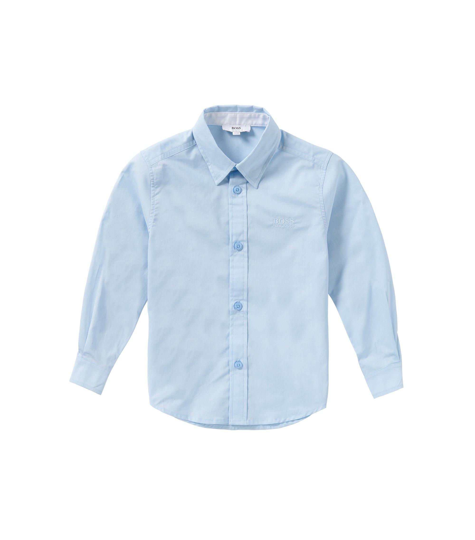 Regular-Fit Kids-Hemd aus Baumwolle: 'J25945', Hellblau