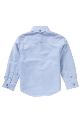 Striped kids' shirt in cotton with breast pocket: 'J25950', Light Blue
