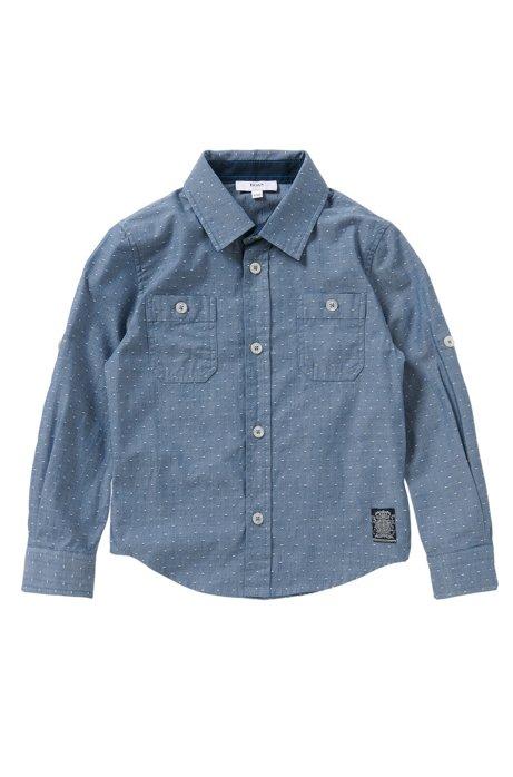 Gestippeld slim-fit overhemd van zuivere katoen: 'J25951', Bedrukt