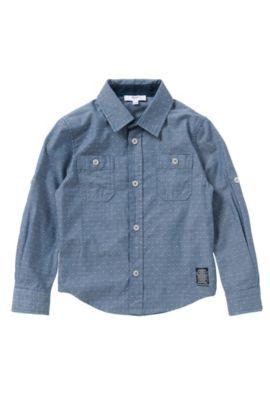Camicia slim fit a pois in puro cotone: 'J25951', A disegni