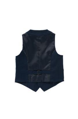 Gilet pour enfant en coton extensible: «J25953», Bleu foncé