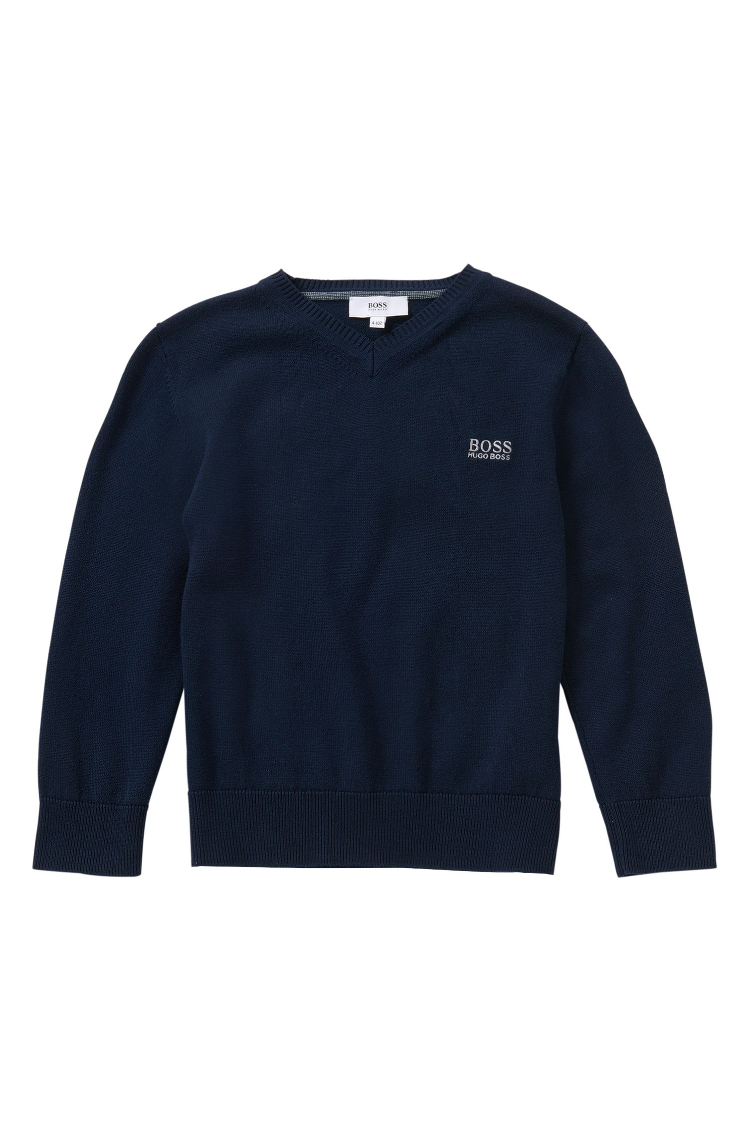 Pull pour enfant en coton à col V: «J25955»