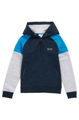 Kindersweatshirt van stretchkatoen met capuchon: 'J25961', Donkerblauw