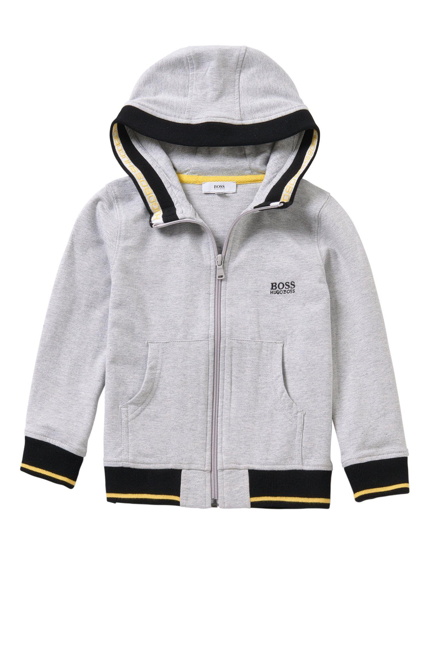 Giubbotto in felpa da bambino in cotone elasticizzato con cappuccio: 'J25962'