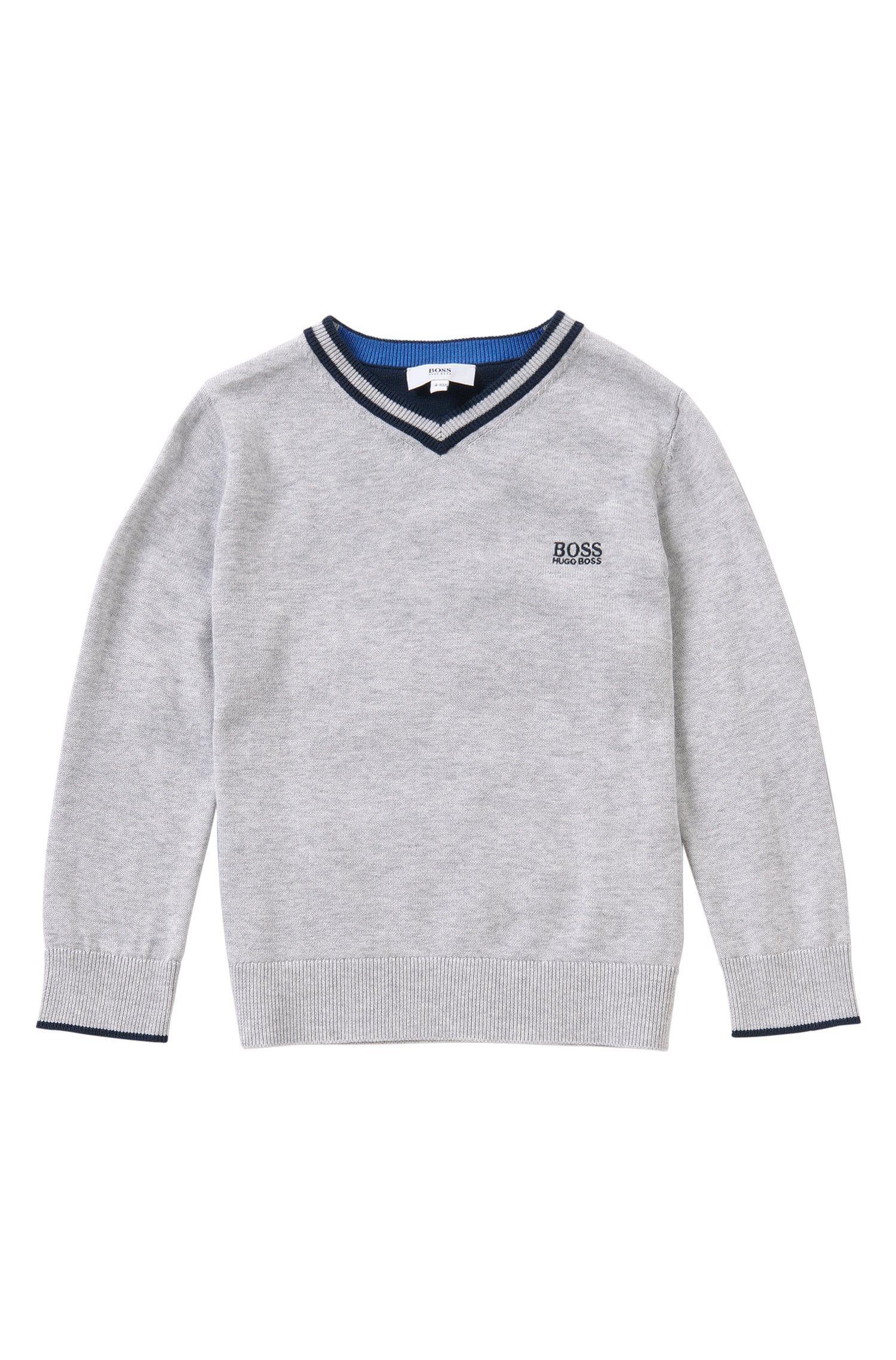 Melierter Kids-Pullover aus Baumwolle: 'J25967'