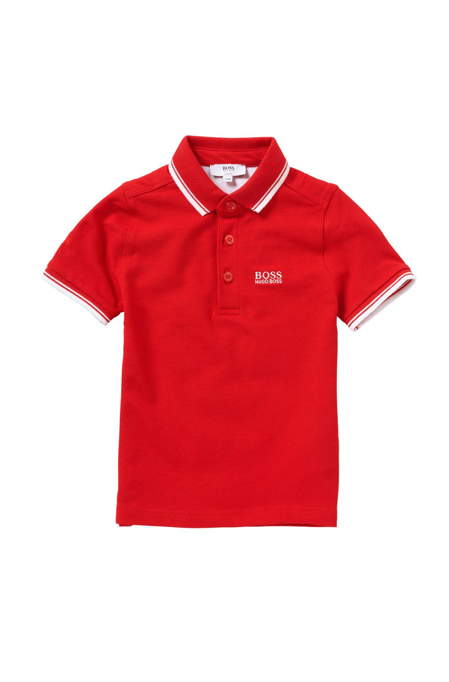 Polo slim fit para niños en algodón elástico: 'J25968'