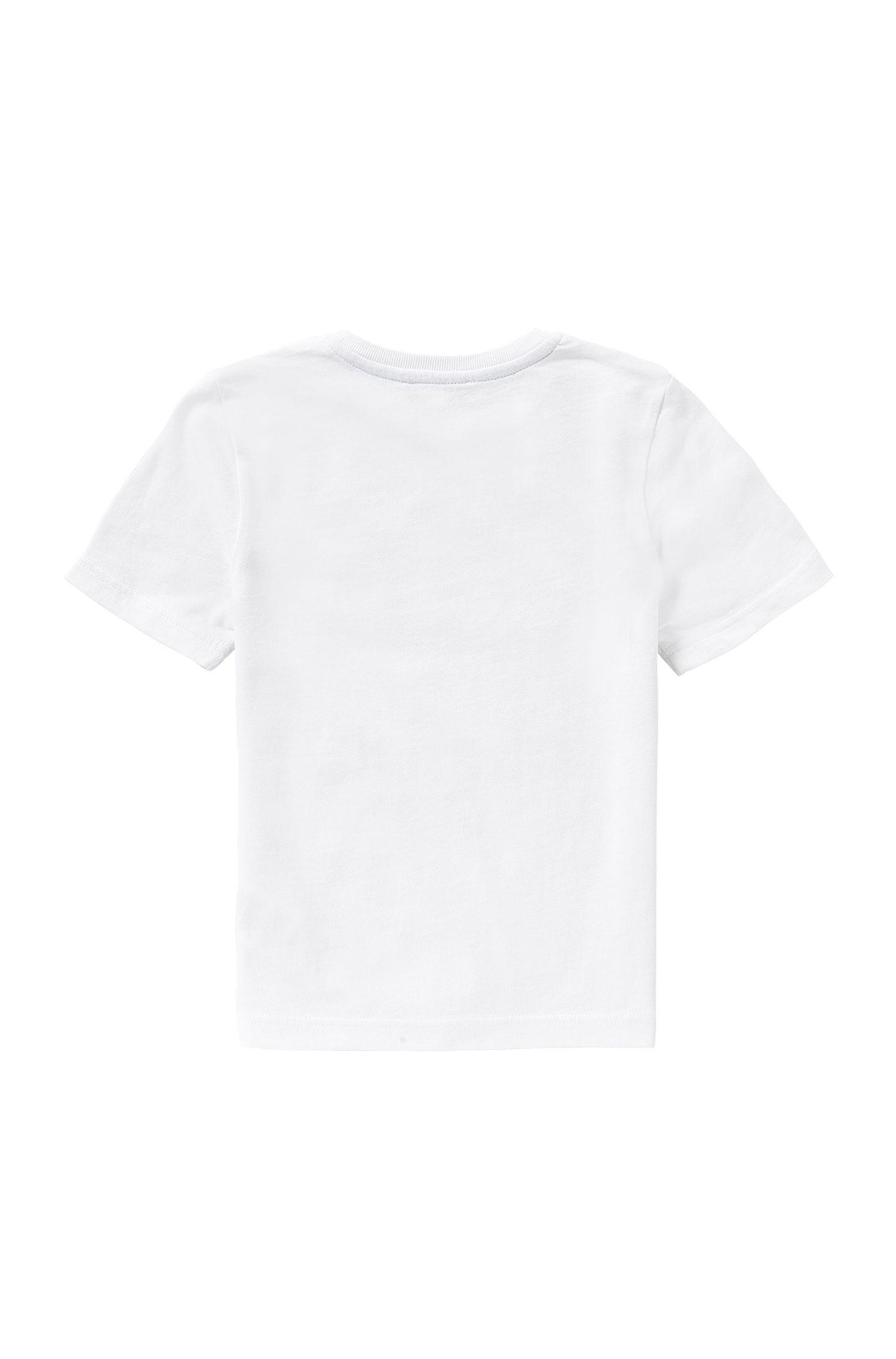 T-shirt pour enfant en coton à motif palmiers imprimé: «J25970»