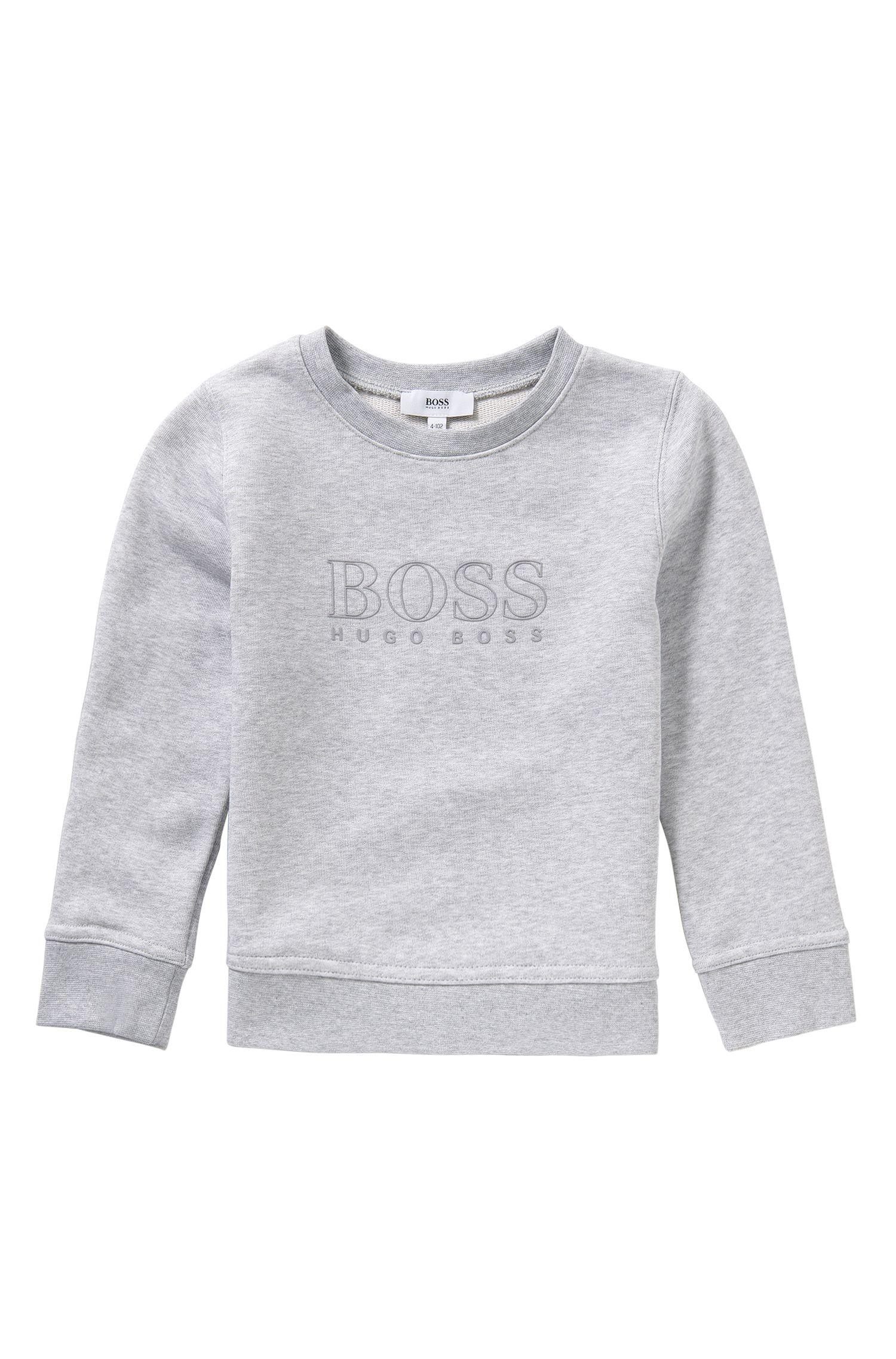 Kids-Sweatshirt aus Baumwoll-Mix mit gummiertem Logo-Print: 'J25971'