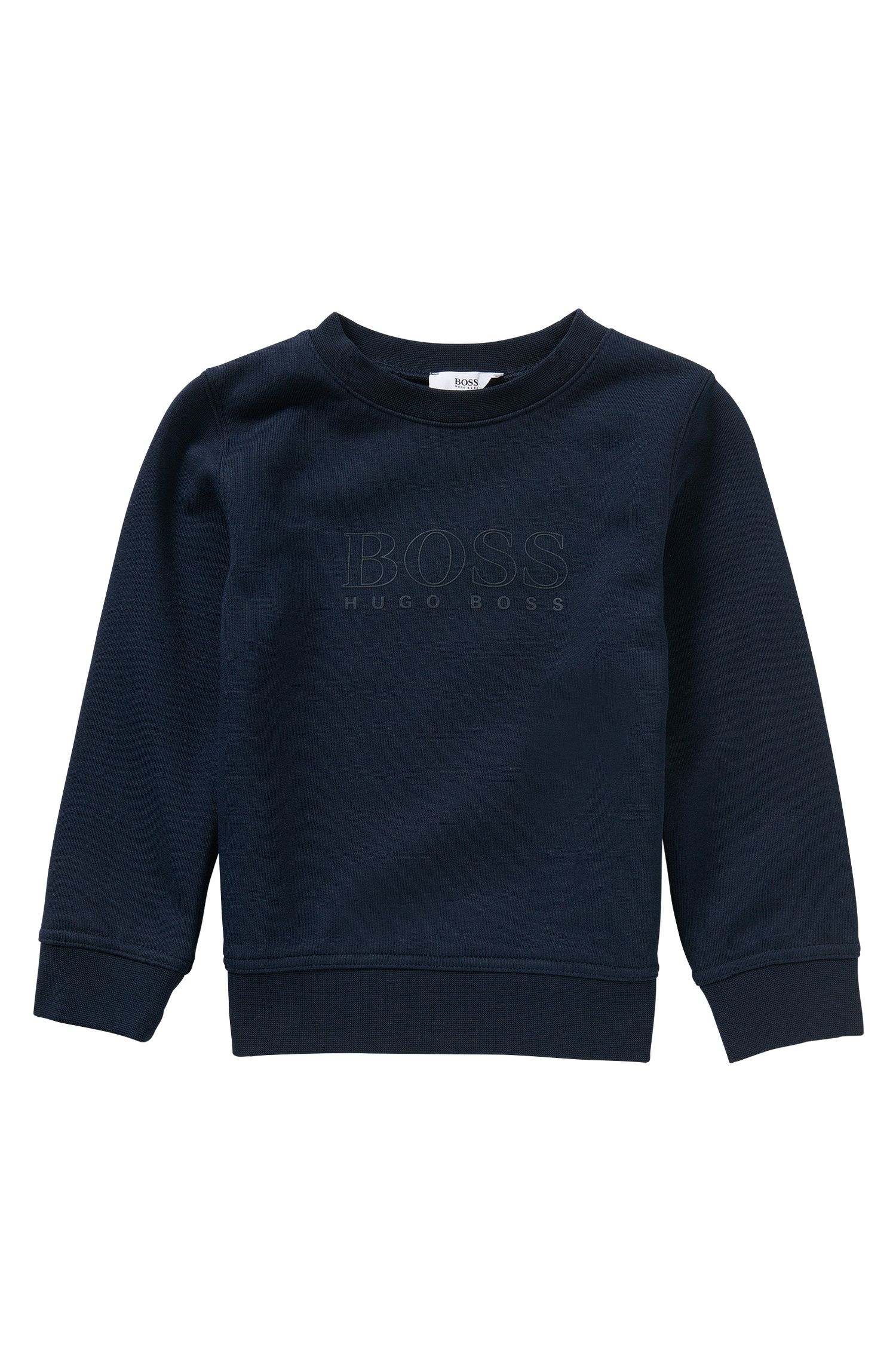 Kids' cotton blend sweatshirt with rubberised logo print: 'J25971'