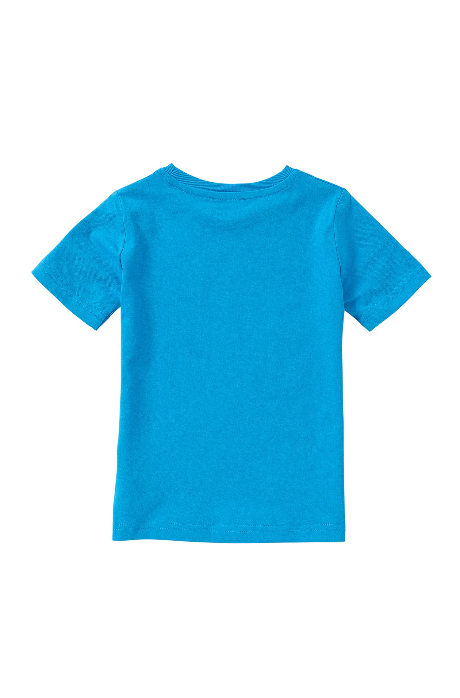 Slim-fit kids' t-shirt in stretch cotton: 'J25974'