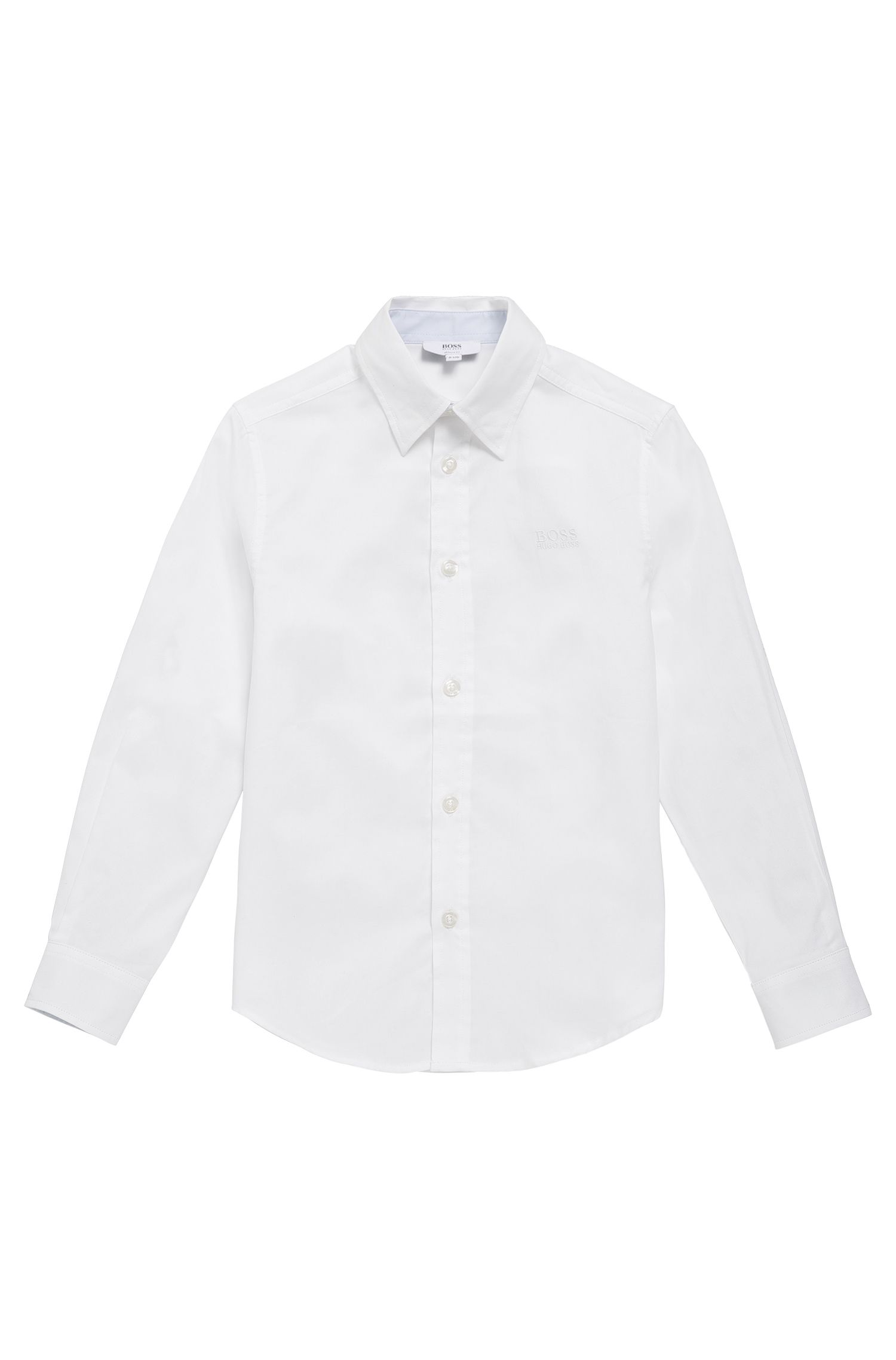 Kids' shirt in lightly textured cotton: 'J25977'