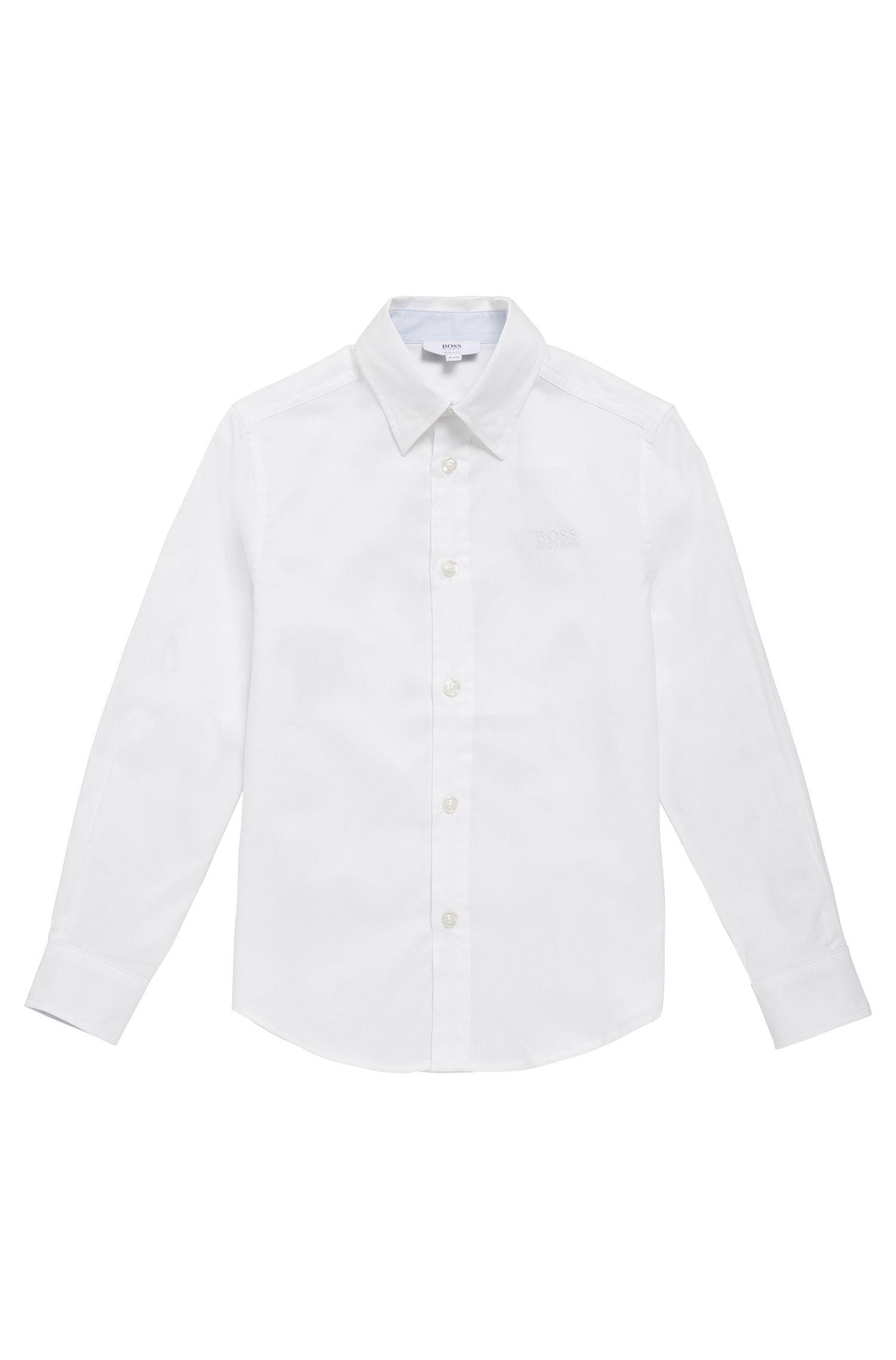 Kinderoverhemd van fijngestructureerde katoen: 'J25977'