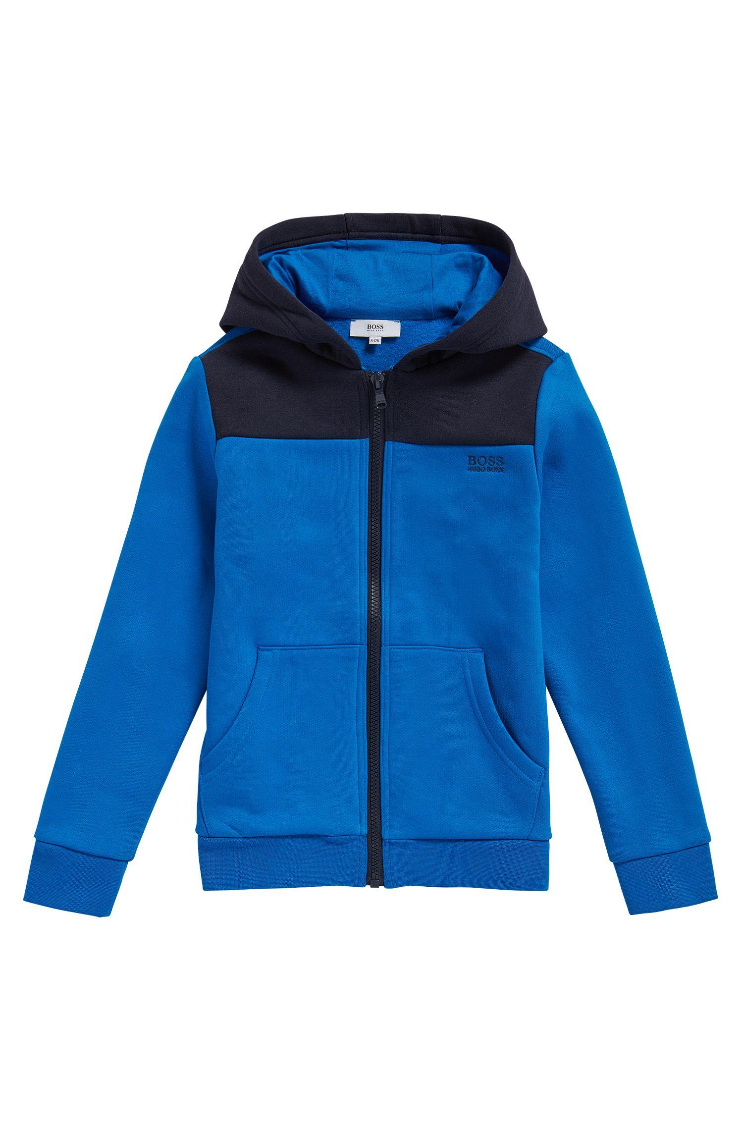 Kids-Sweatshirt-Jacke aus Baumwoll-Mix mit Kapuze: 'J25979'