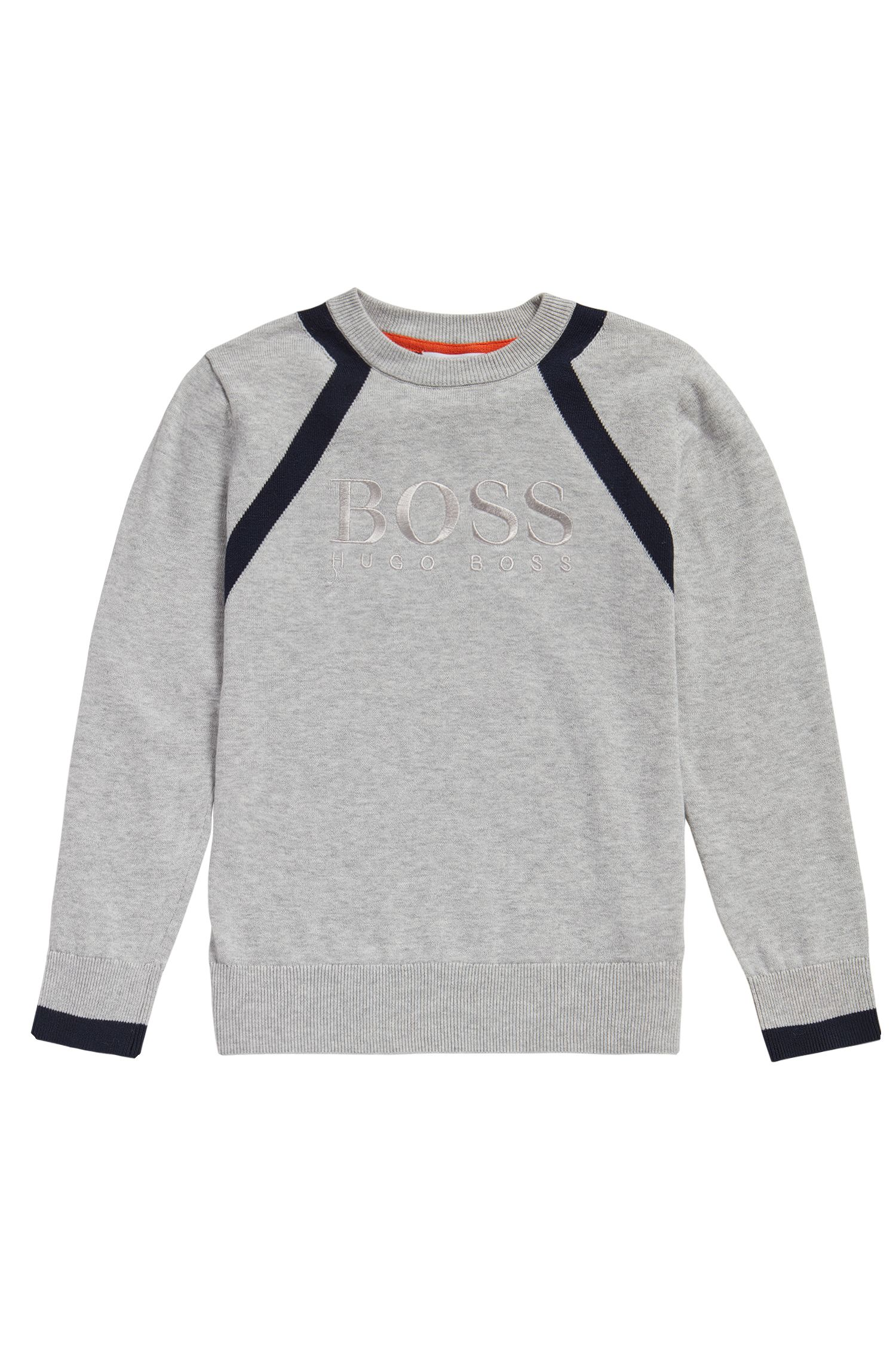 Kids-Pullover aus Baumwolle in Melange-Optik: 'J25982'