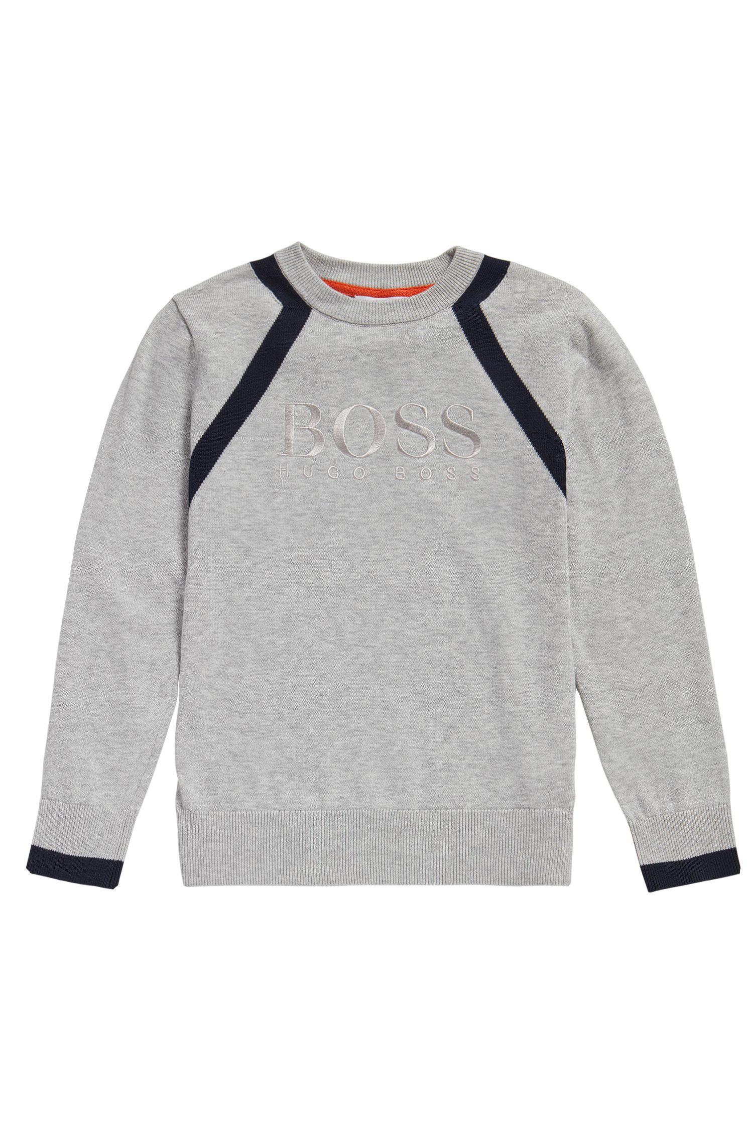 Kids-Pullover aus Baumwolle in Melange-Optik: 'J25982'