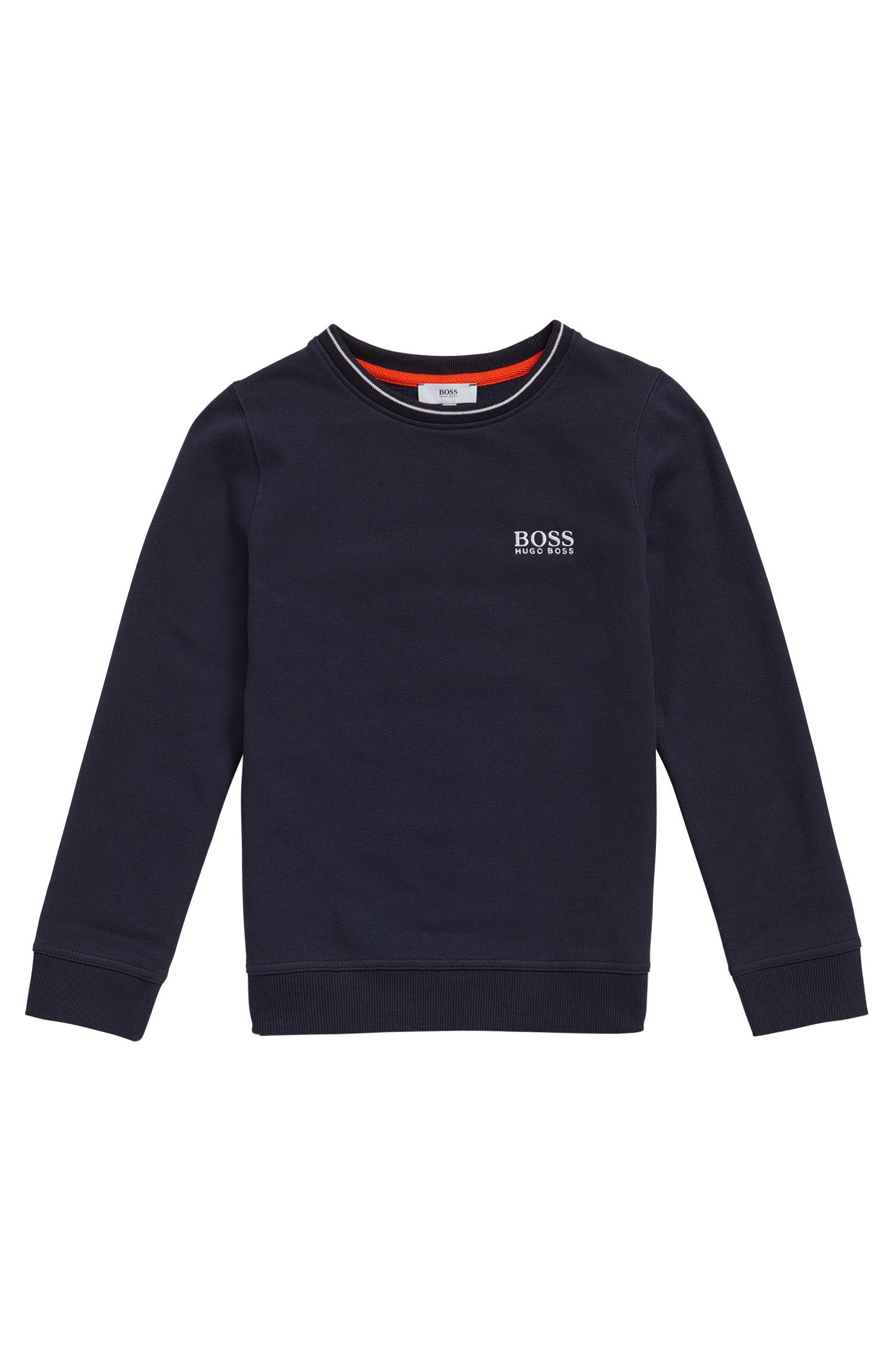 Sweat pour enfant en coton à logo brodé: «J25985»