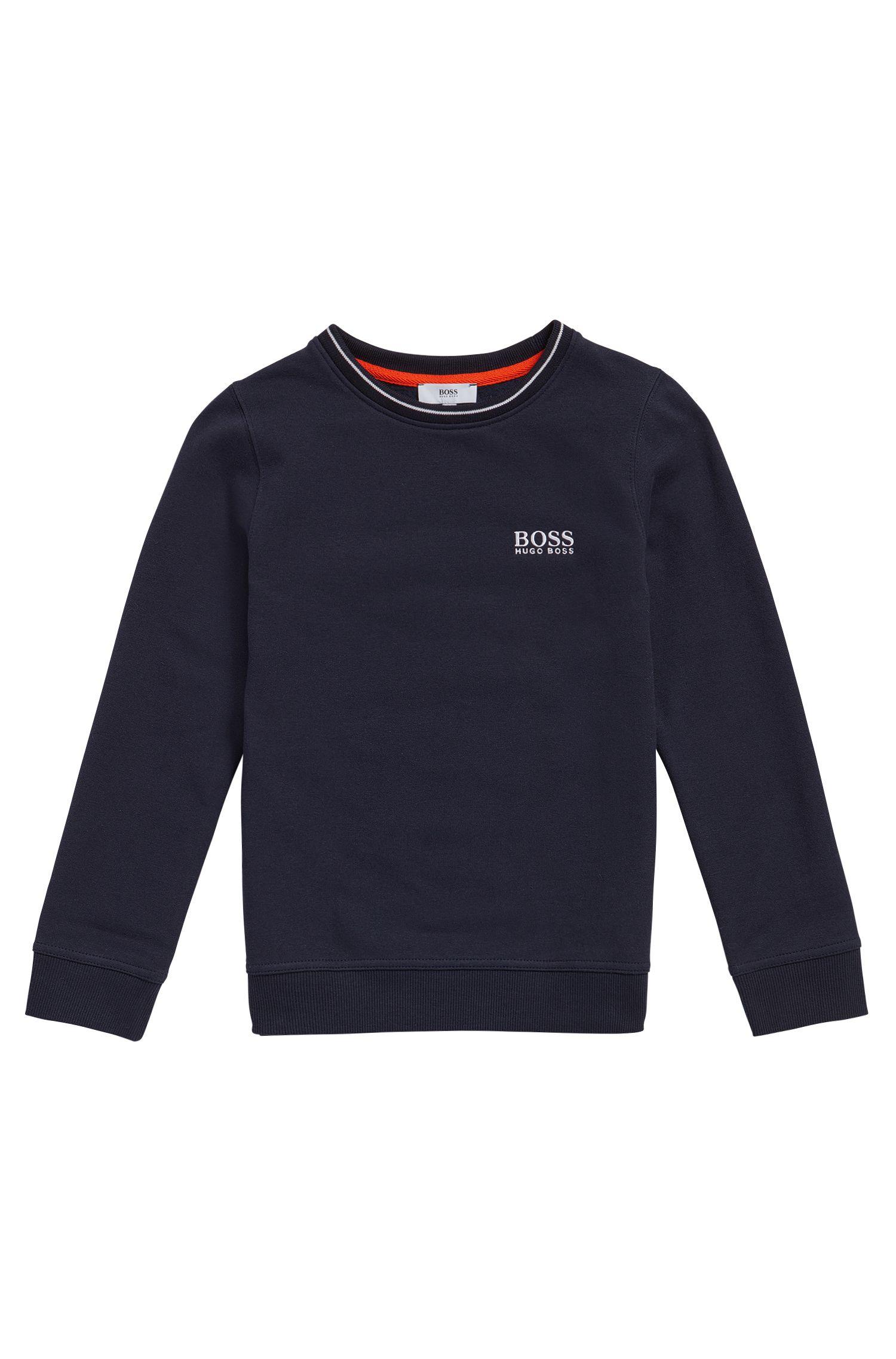 Kids-Sweatshirt aus Baumwolle mit Logo-Stickerei: 'J25985'