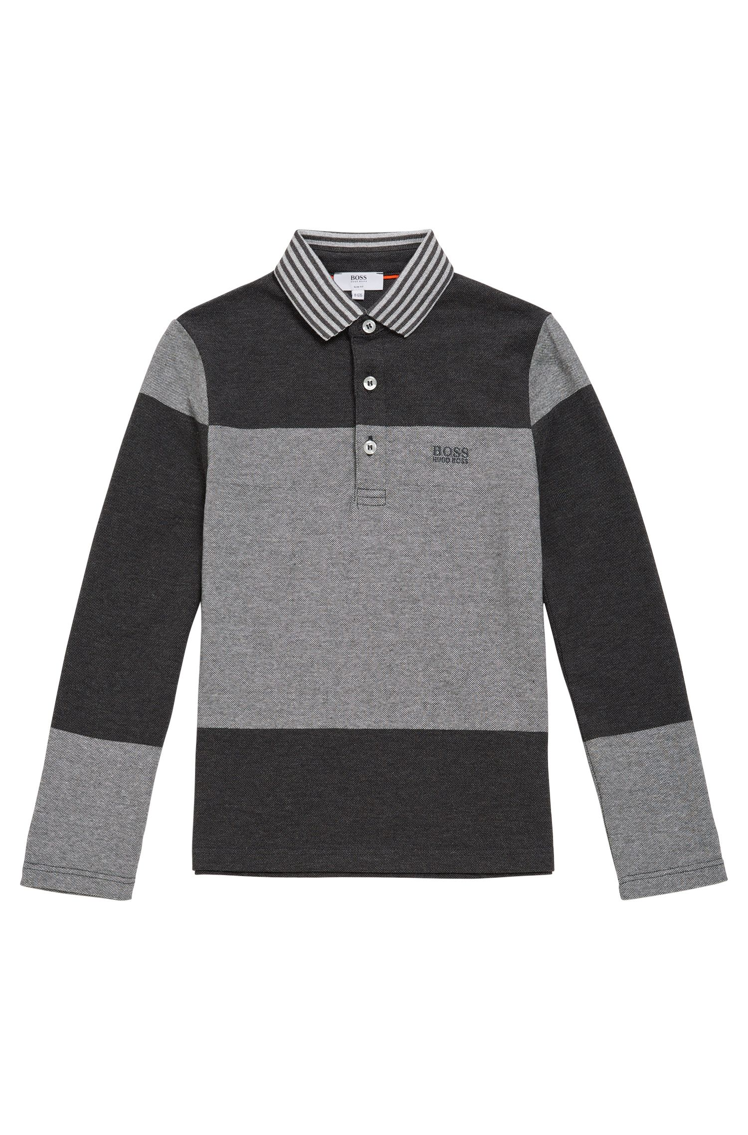 Kids' long-sleeved shirt made from cotton in polo style: 'J25996'