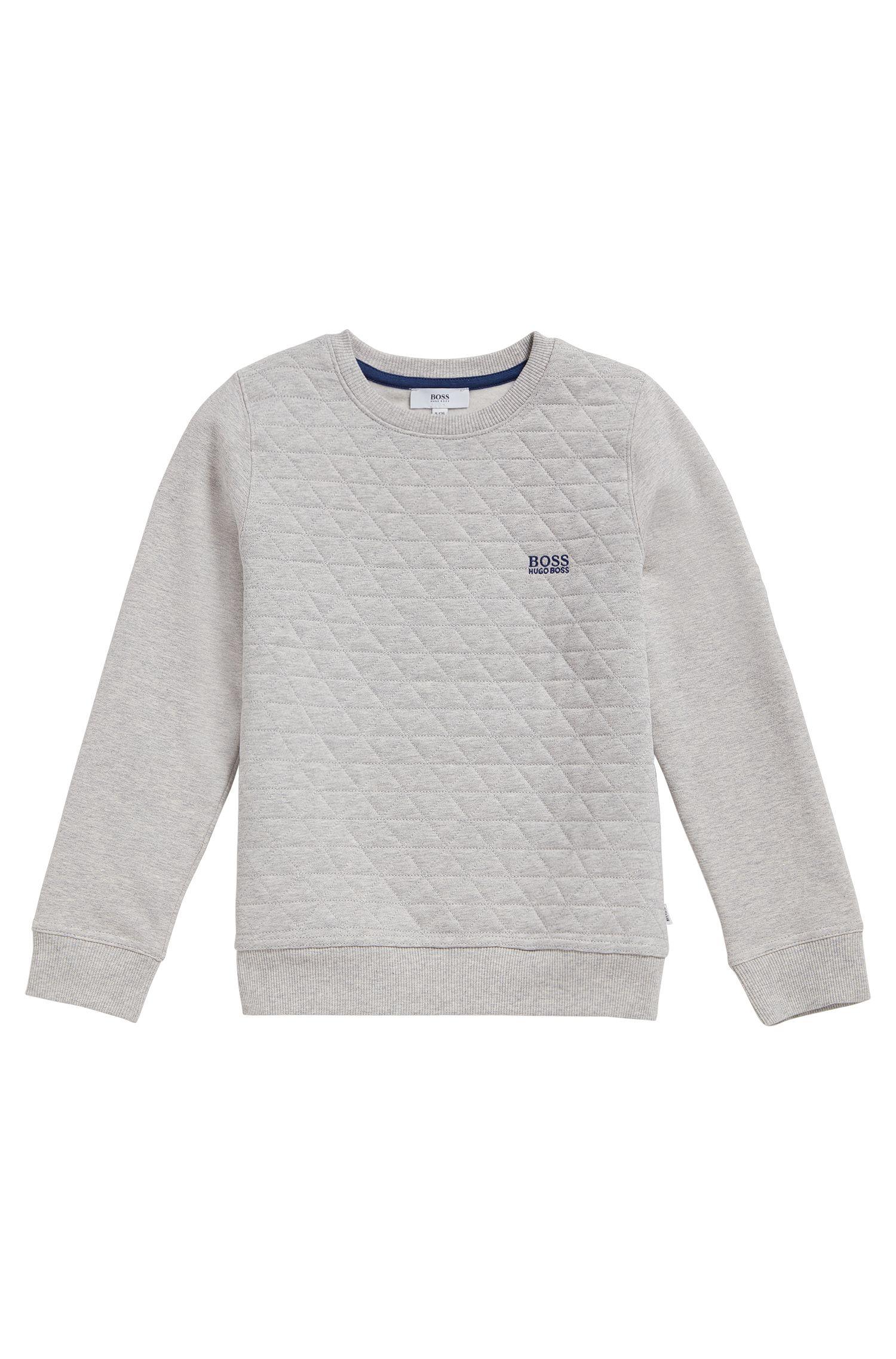 Kindersweatshirt van een katoenmix met stretch: 'J25A03'
