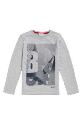 Kids-Shirt aus Baumwolle mit Logo-Print: 'J25A06', Hellgrau