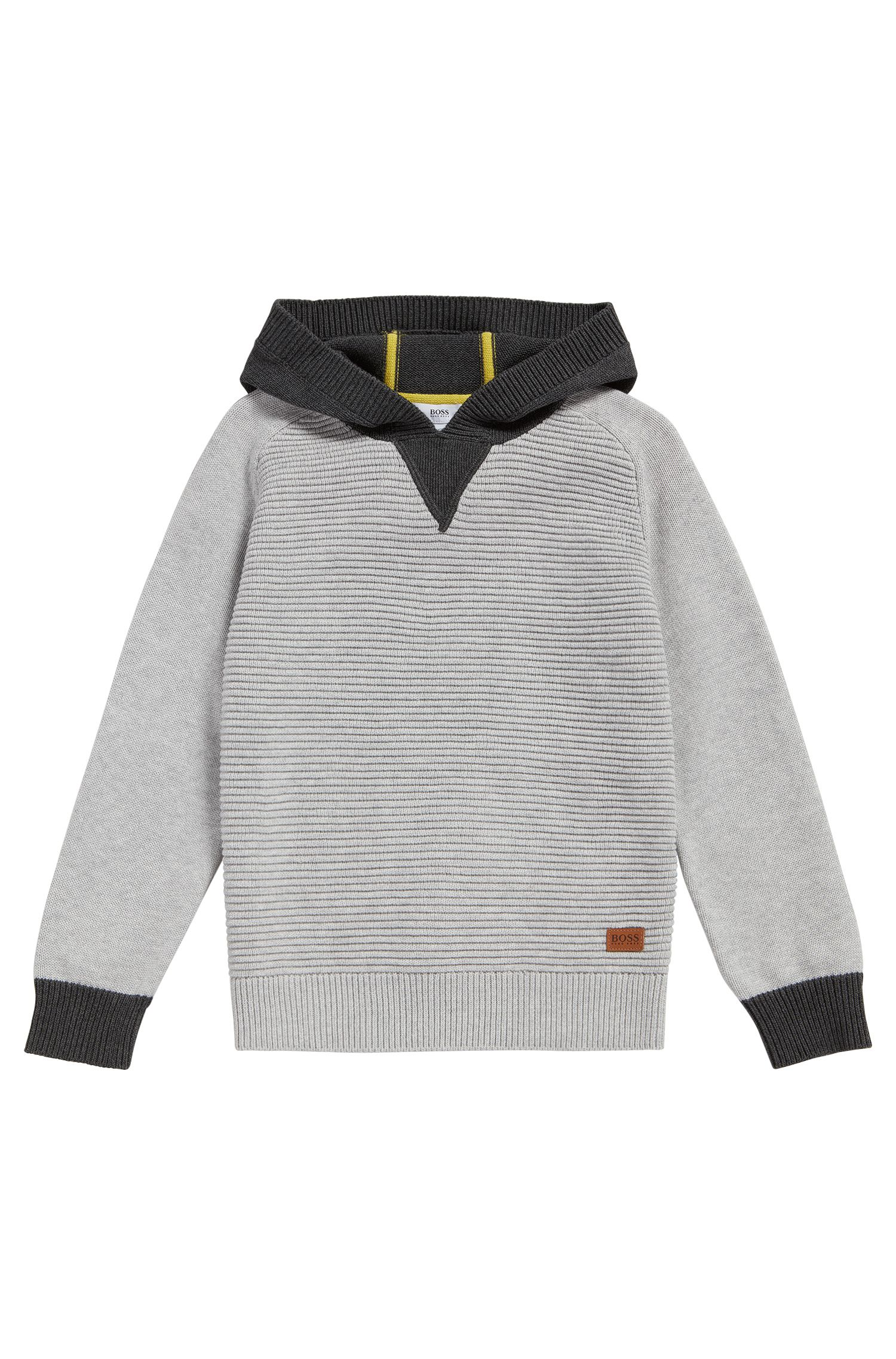 Kids cotton sweater with hood: 'J25A16'