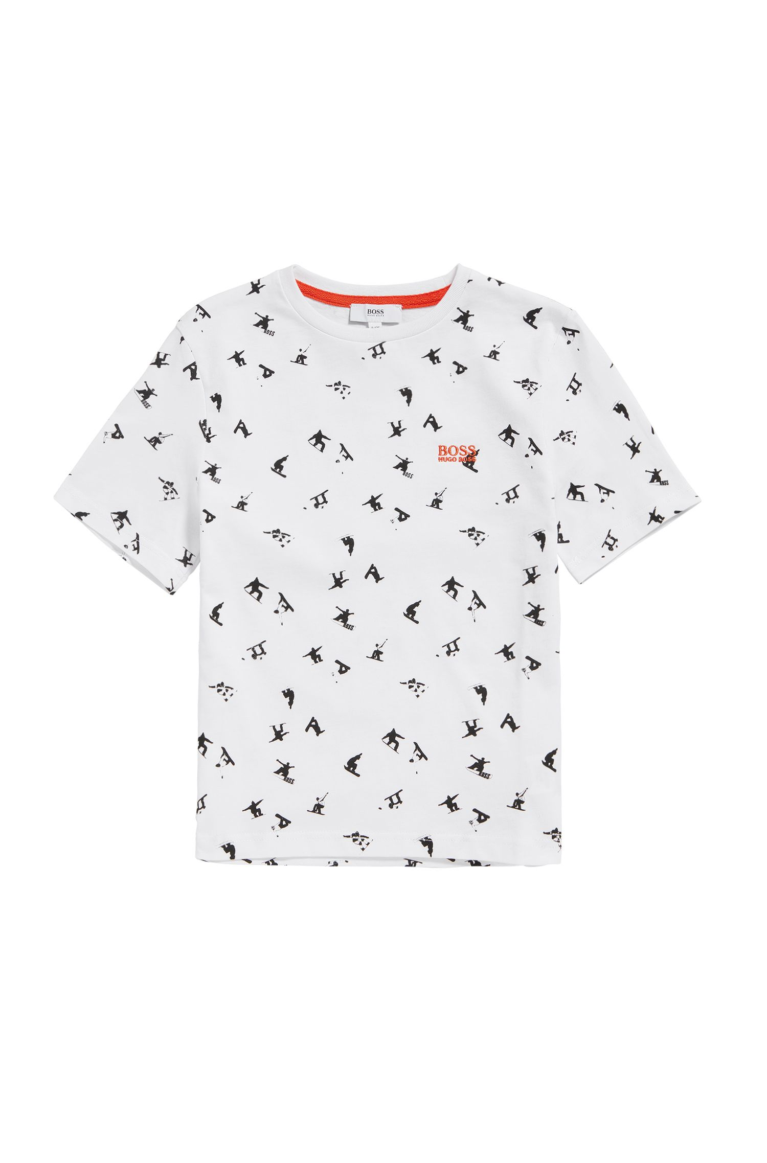 Kids' t-shirt in cotton with all-over print: 'J25A34'