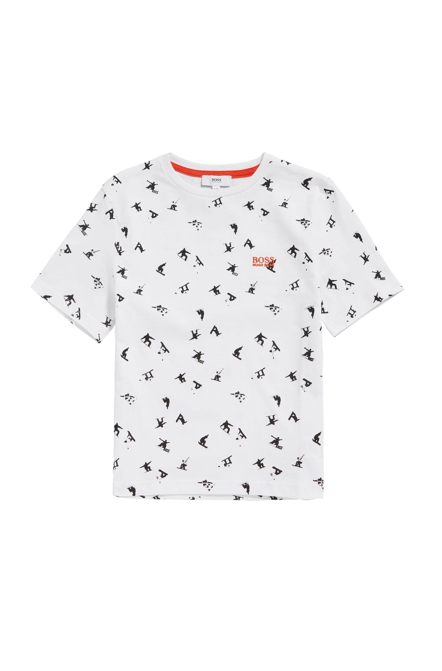 Kids-Shirt aus Baumwolle mit Allover-Print: 'J25A34'