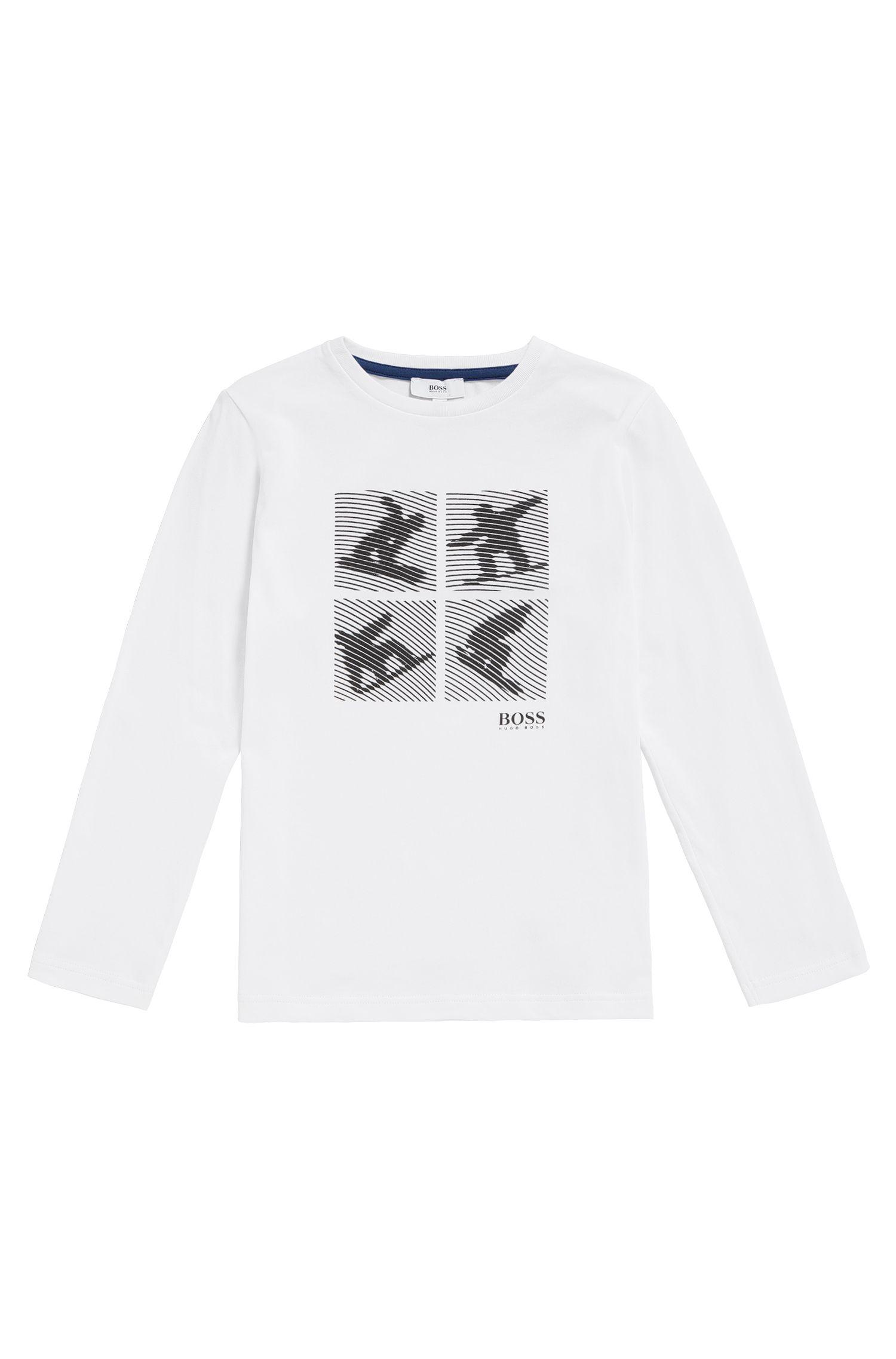 Kindershirt van katoen met surfprint: 'J25A35'