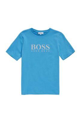 Kids-Shirt aus Baumwolle mit Front-Print: 'J25A38', Türkis