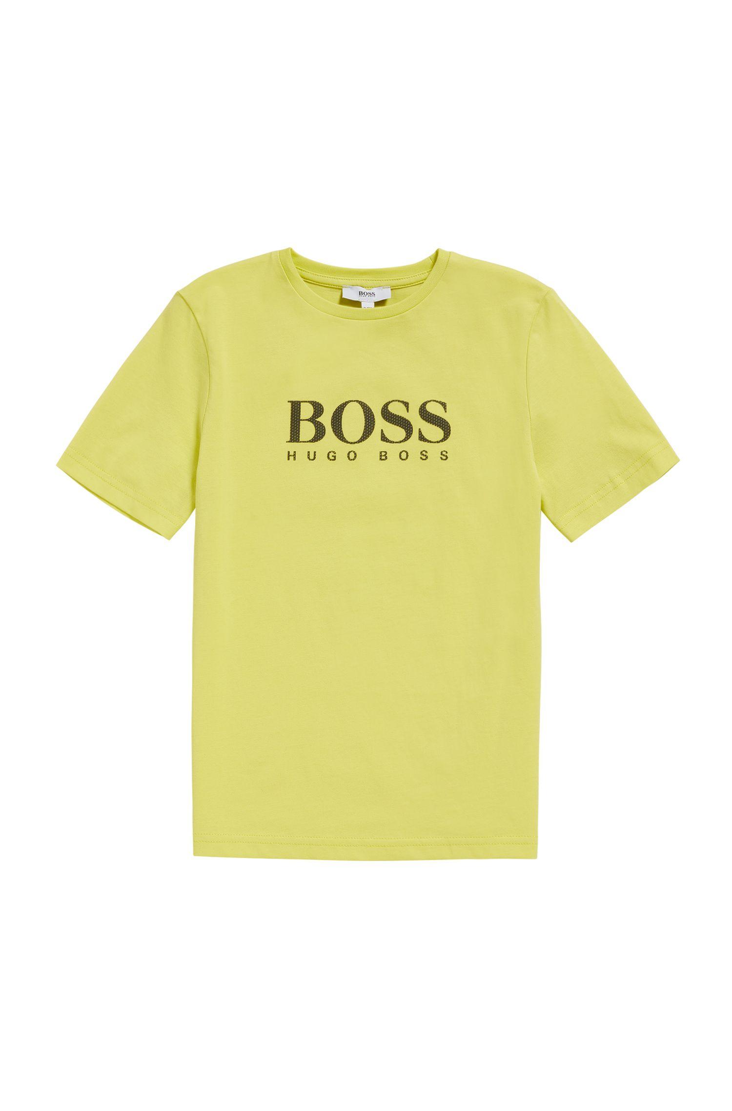 Kids-Shirt aus Baumwolle mit Front-Print: 'J25A38'